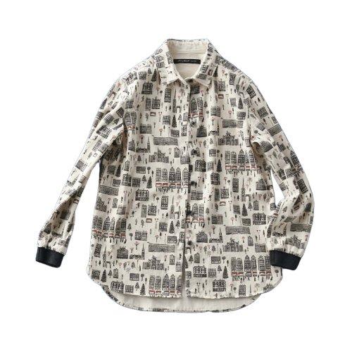 サニークラウズ ガムラスタンをつる散歩シャツ〈レディース〉