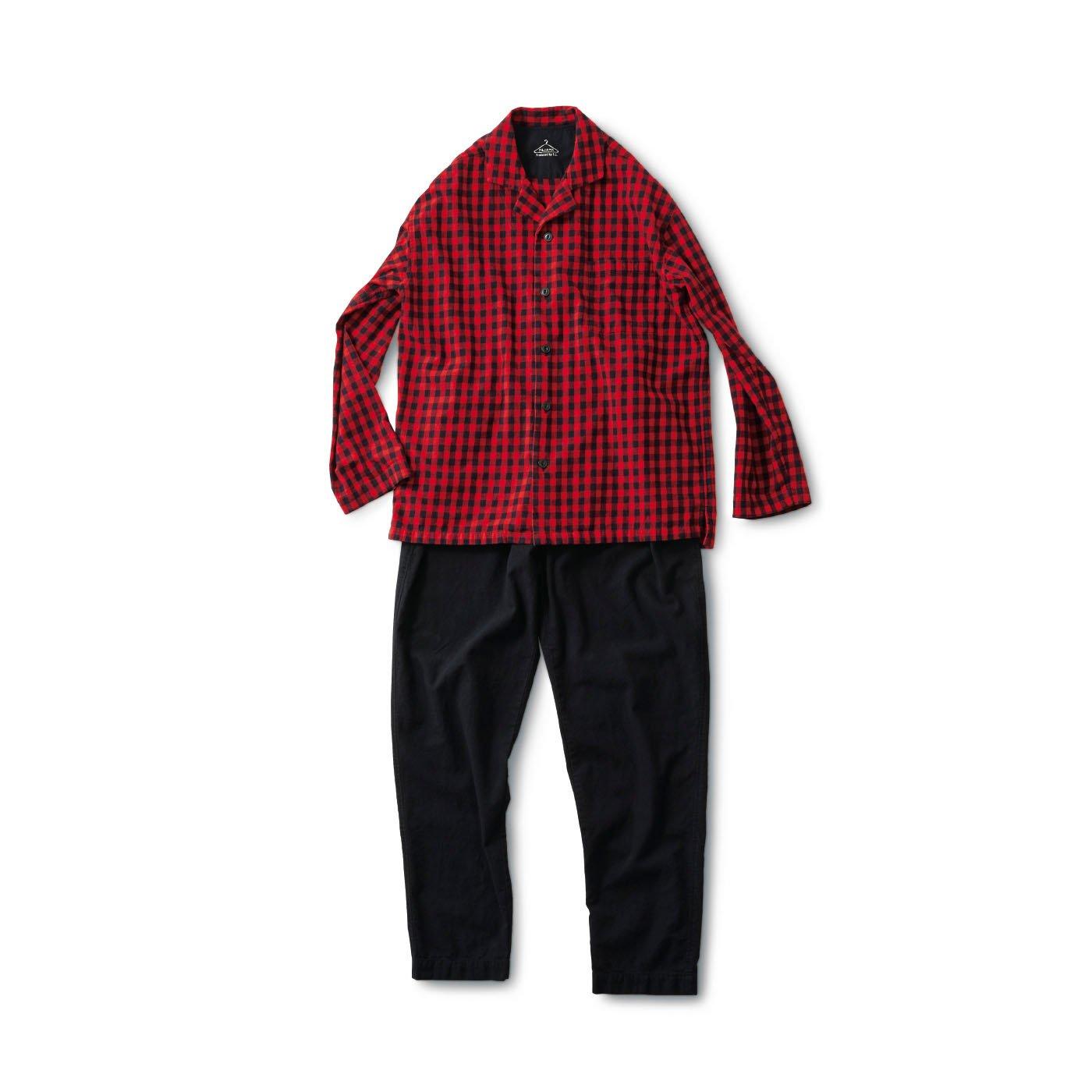 サニークラウズ 赤いチェックのパジャマ〈メンズ〉