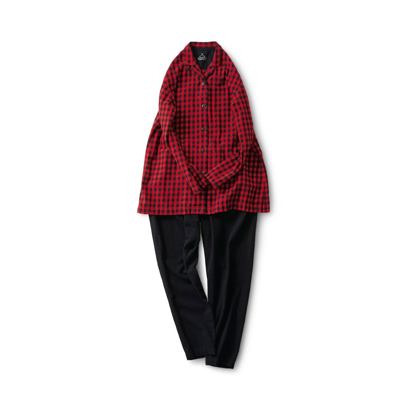 サニークラウズ 赤いチェックのパジャマ〈レディース〉