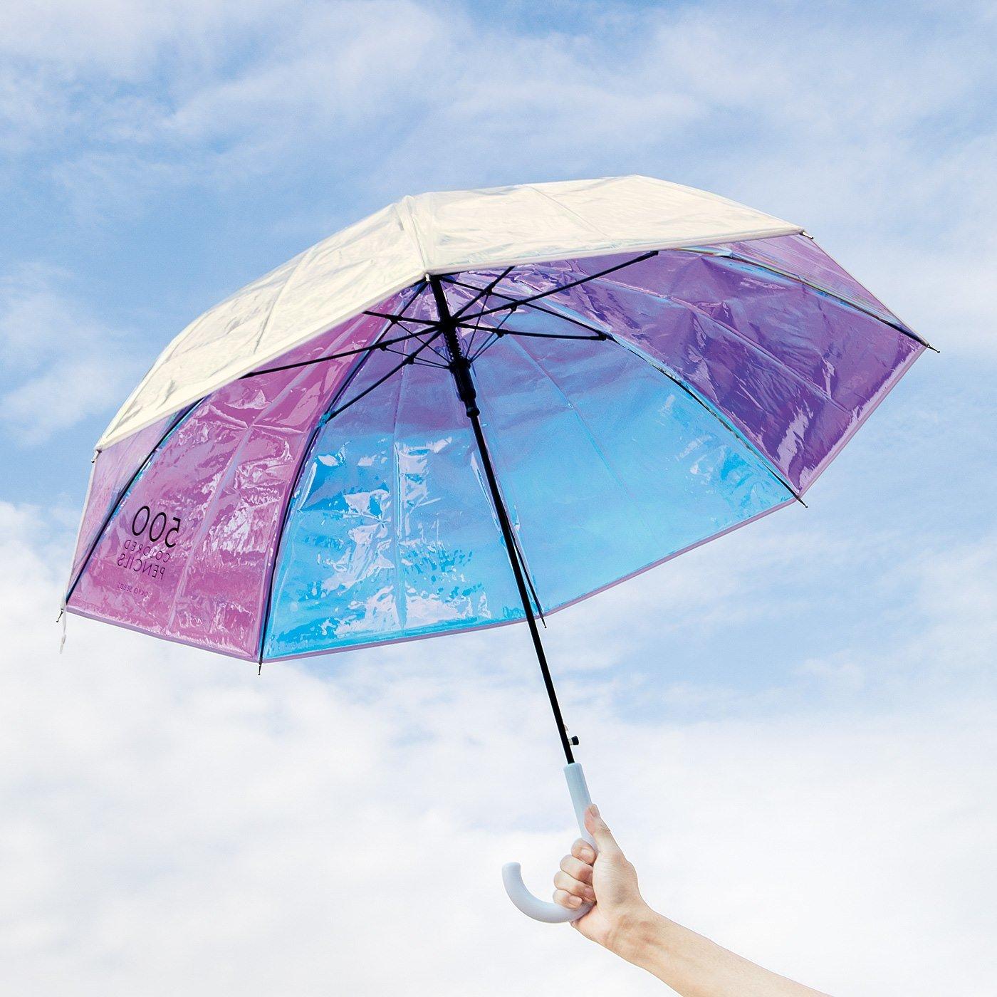 500色の色えんぴつ TOKYO SEEDS見上げればいつもオーロラ傘