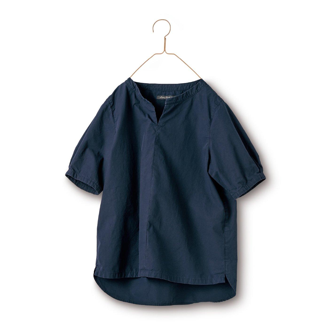 サニークラウズ 切れ込みシャツ〈レディース〉紺