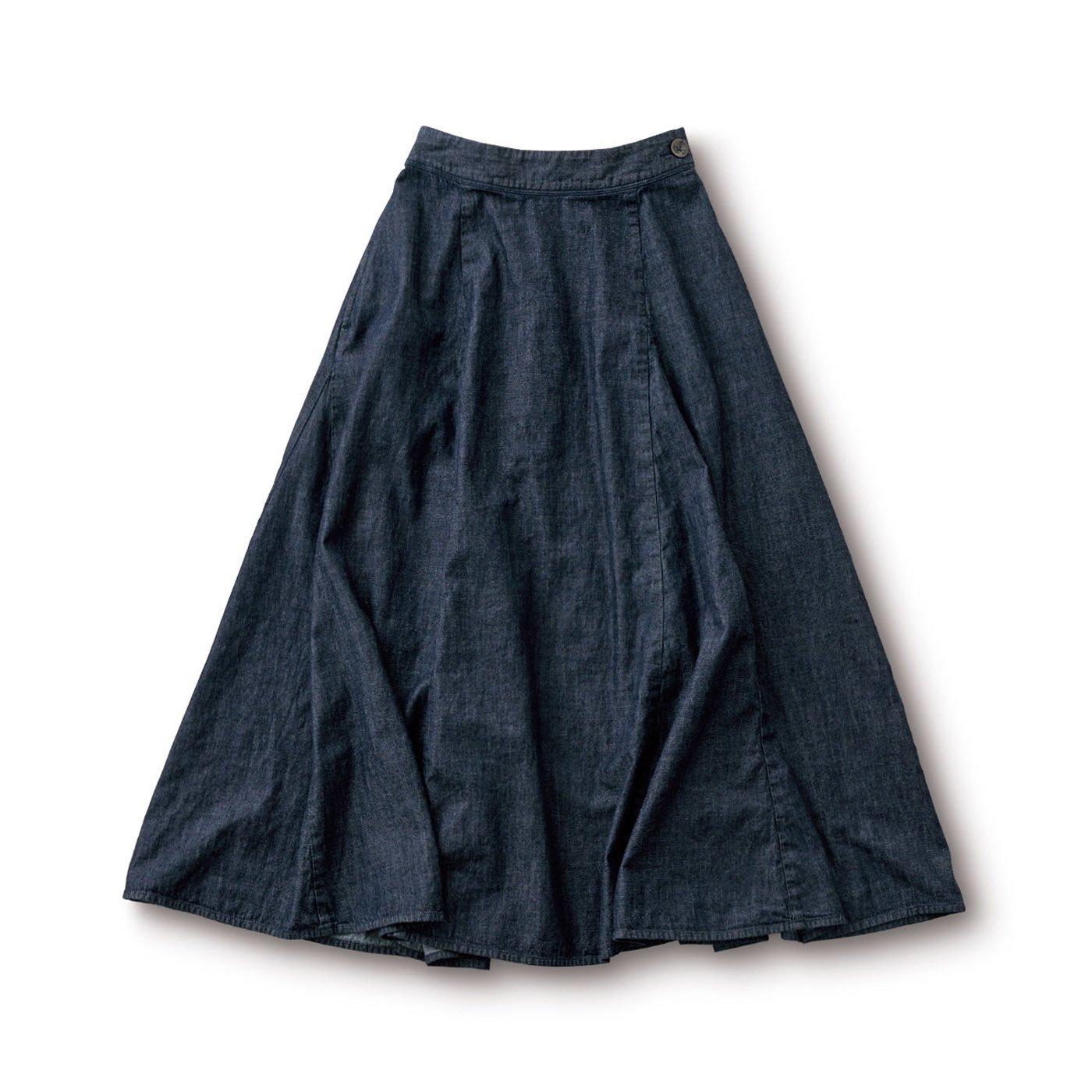 サニークラウズ デニムのマキシスカート〈レディース〉