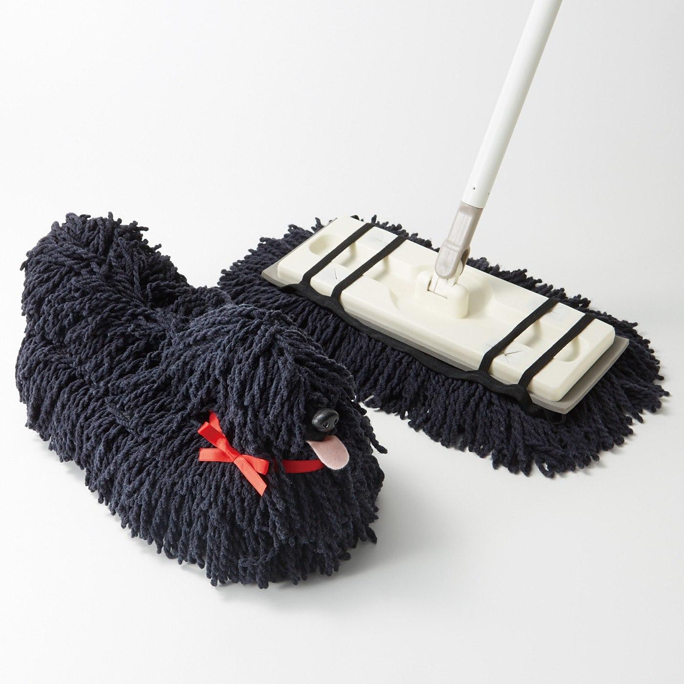 お手持ちのフローリングワイパーに簡単装着。底部分は洗濯機洗いOK。