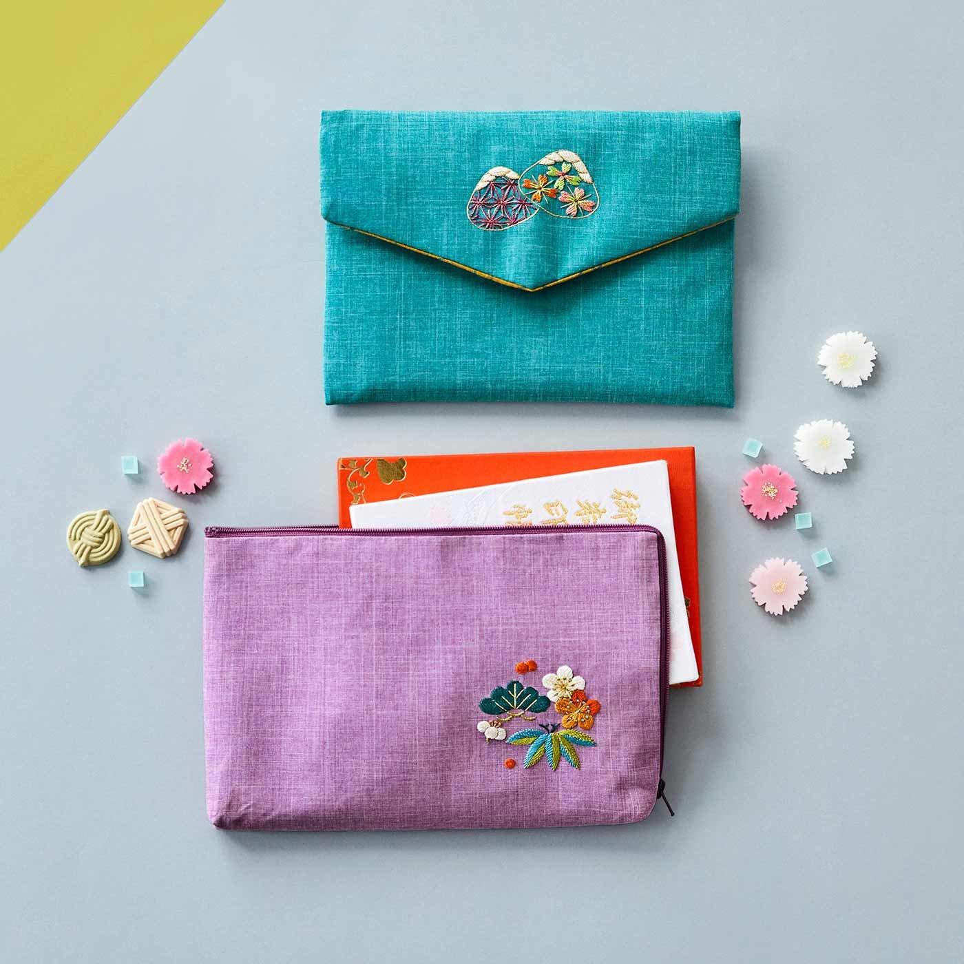 寺社めぐりがもっと楽しくなる 日本刺しゅうご朱印帳袋の会