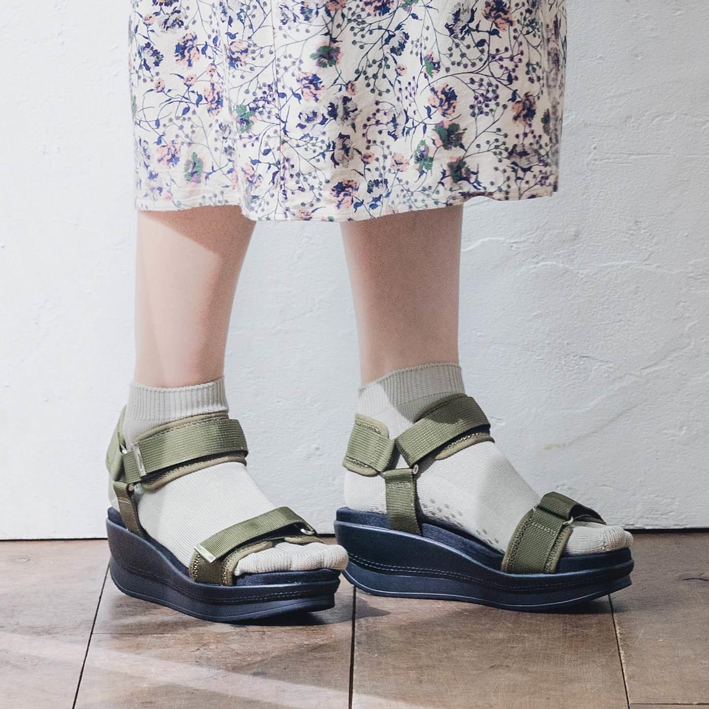 UP.de はき心地ふんわり 足をキレイに見せる シルク混隠れ5本指靴下