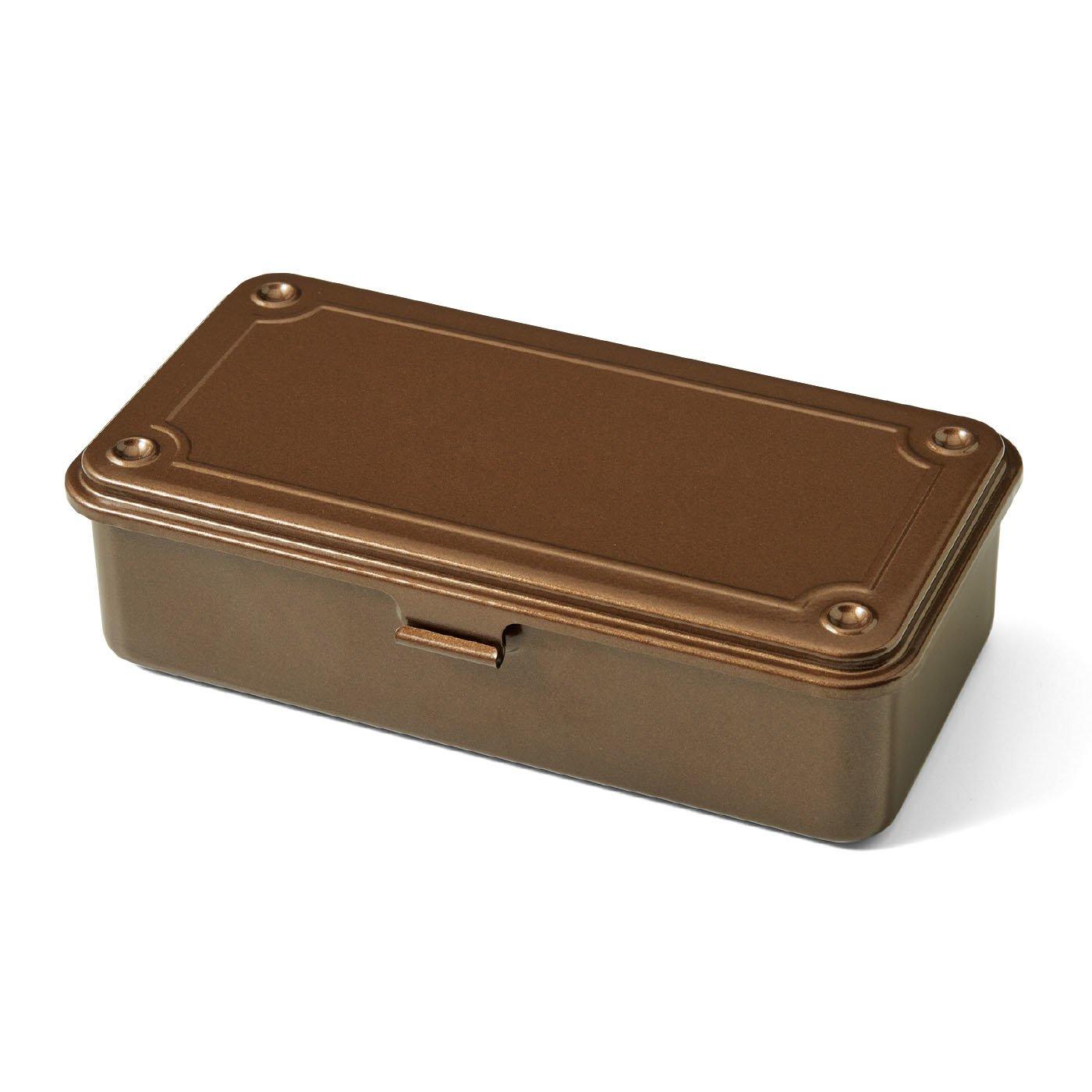 老舗工場で作られる ミニスチール工具箱〈珈琲ブラウン〉