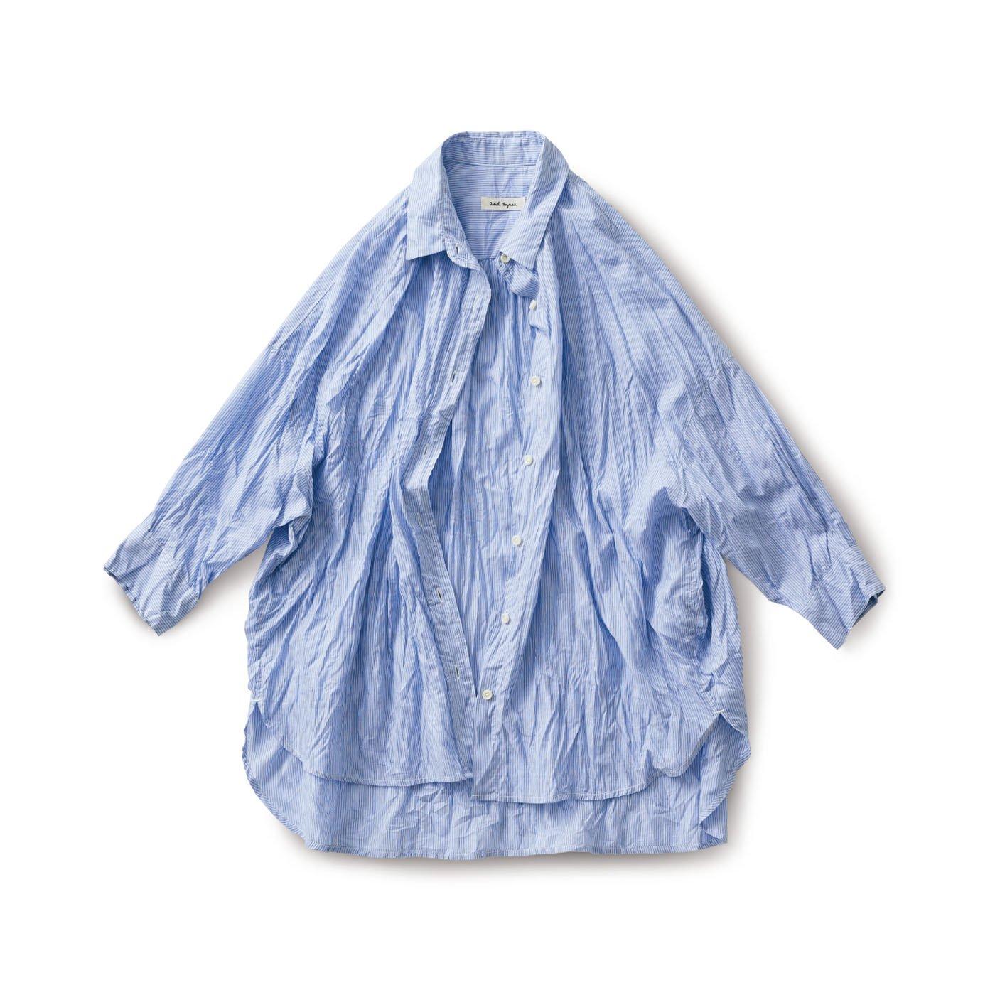and myera くしゅくしゅシャツ