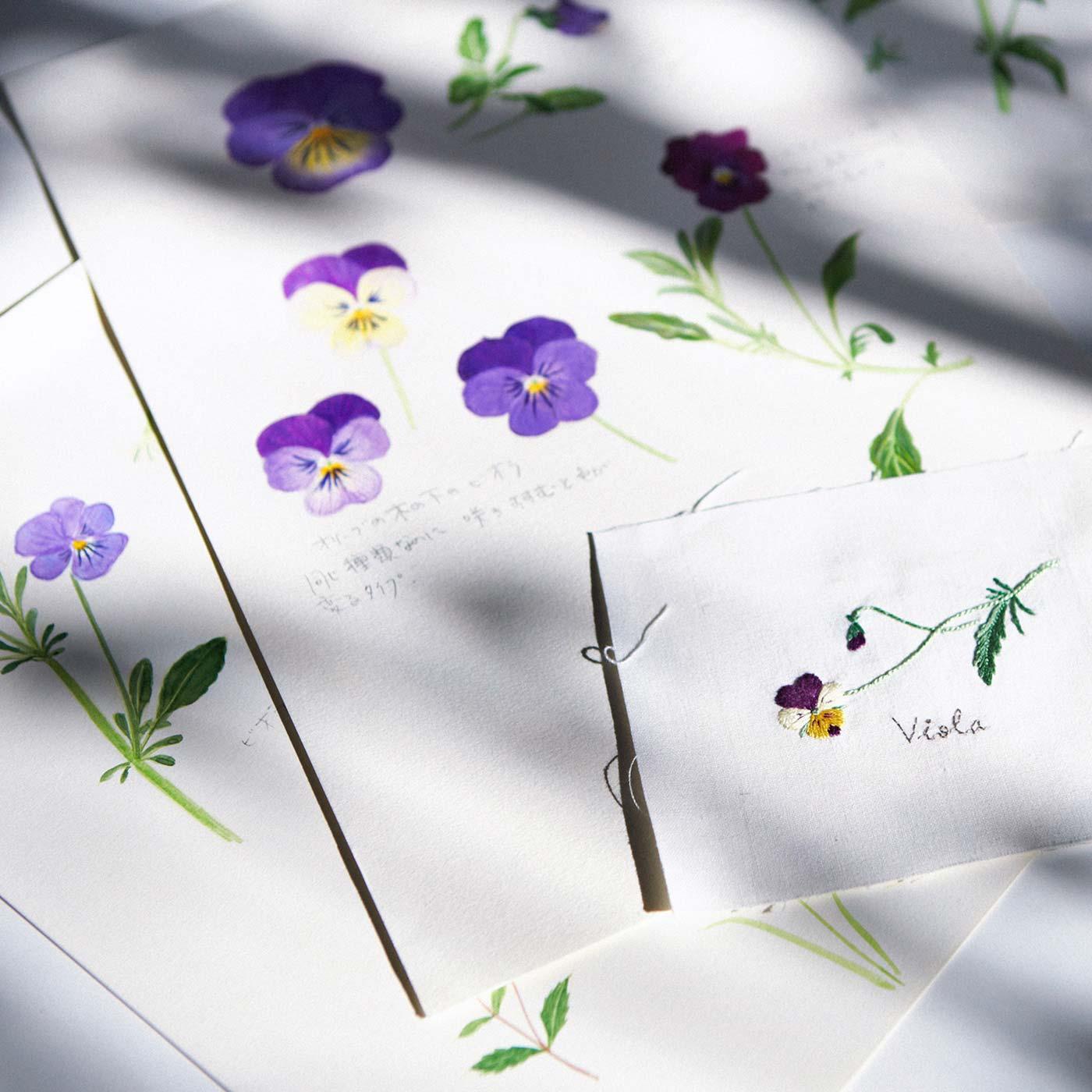 青木 和子さんのアトリエや暮らしなど、この刺しゅうが生まれてきた背景も紹介しています。