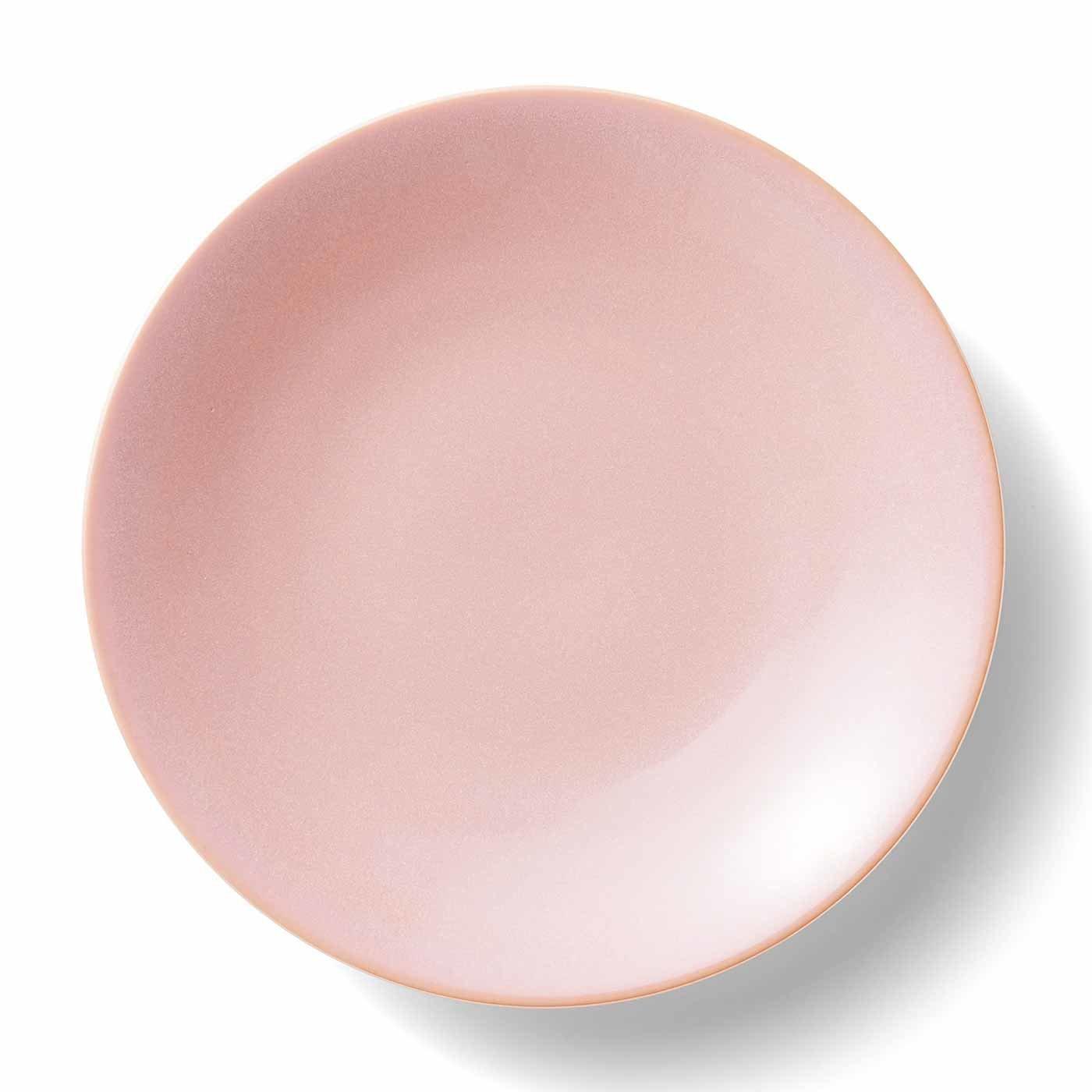 味わい深い ピンクの大皿の会