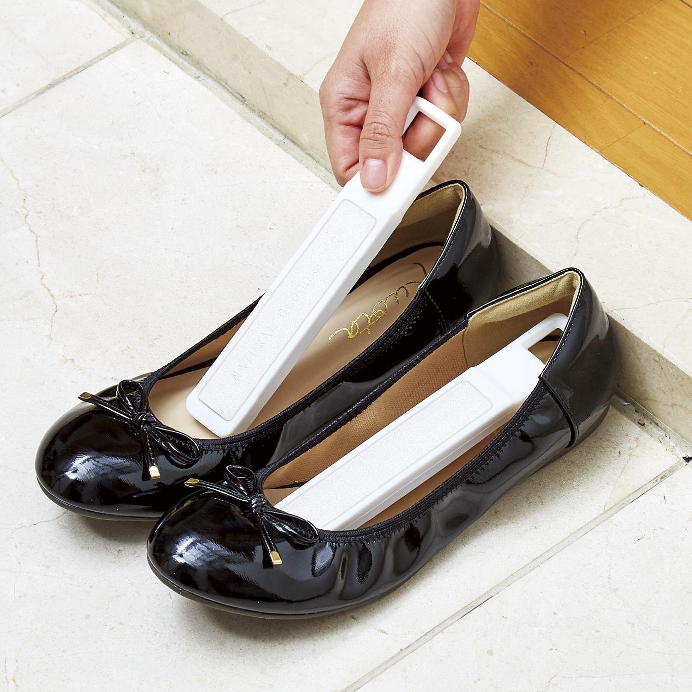 靴の湿気を毎日リセット 珪藻土スティック〈2本セット〉