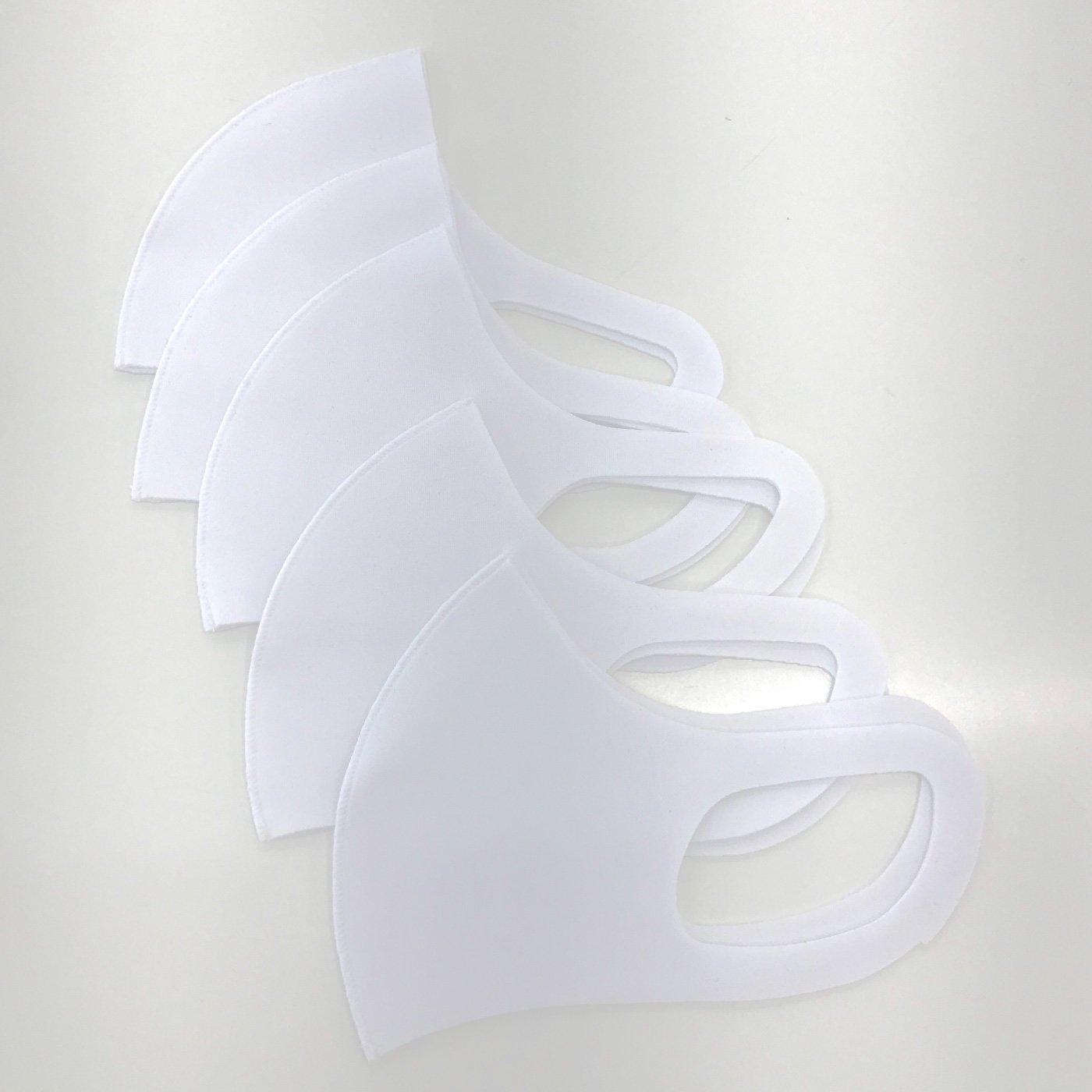 洗える!立体マスク(5枚入り)〈ホワイト〉