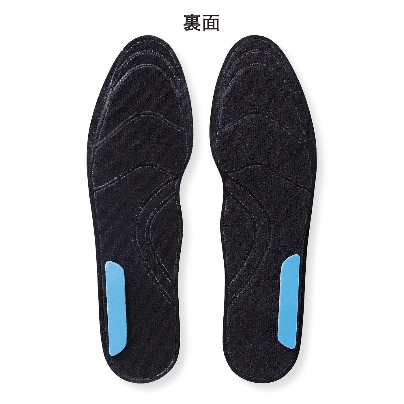 片減り対策:クッションの位置を変えて傾斜をつけることで靴底の外減り、内減りを防ぎます。