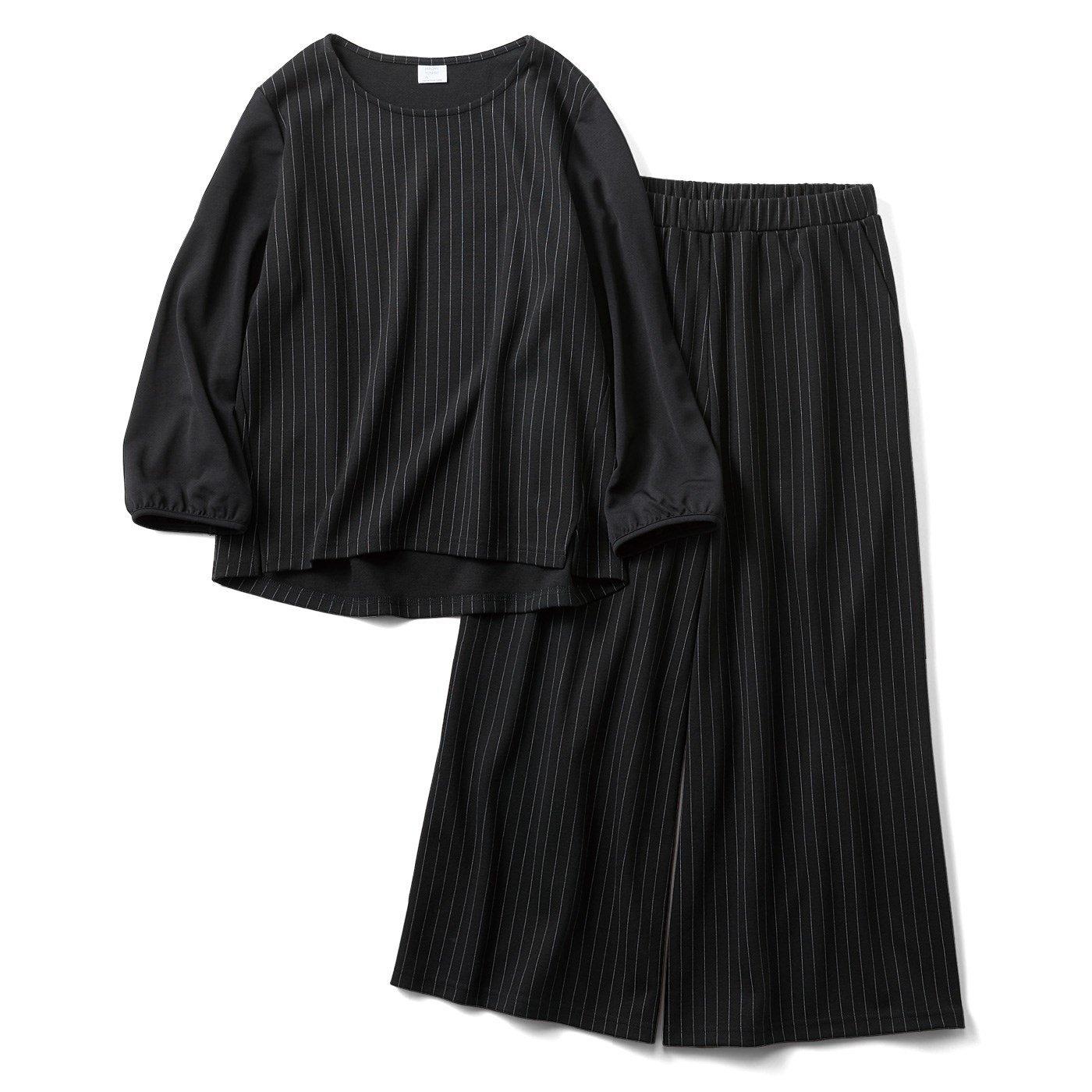 HIROMI YOSHIDA. ピンストライプのセットアップ〈ブラック〉