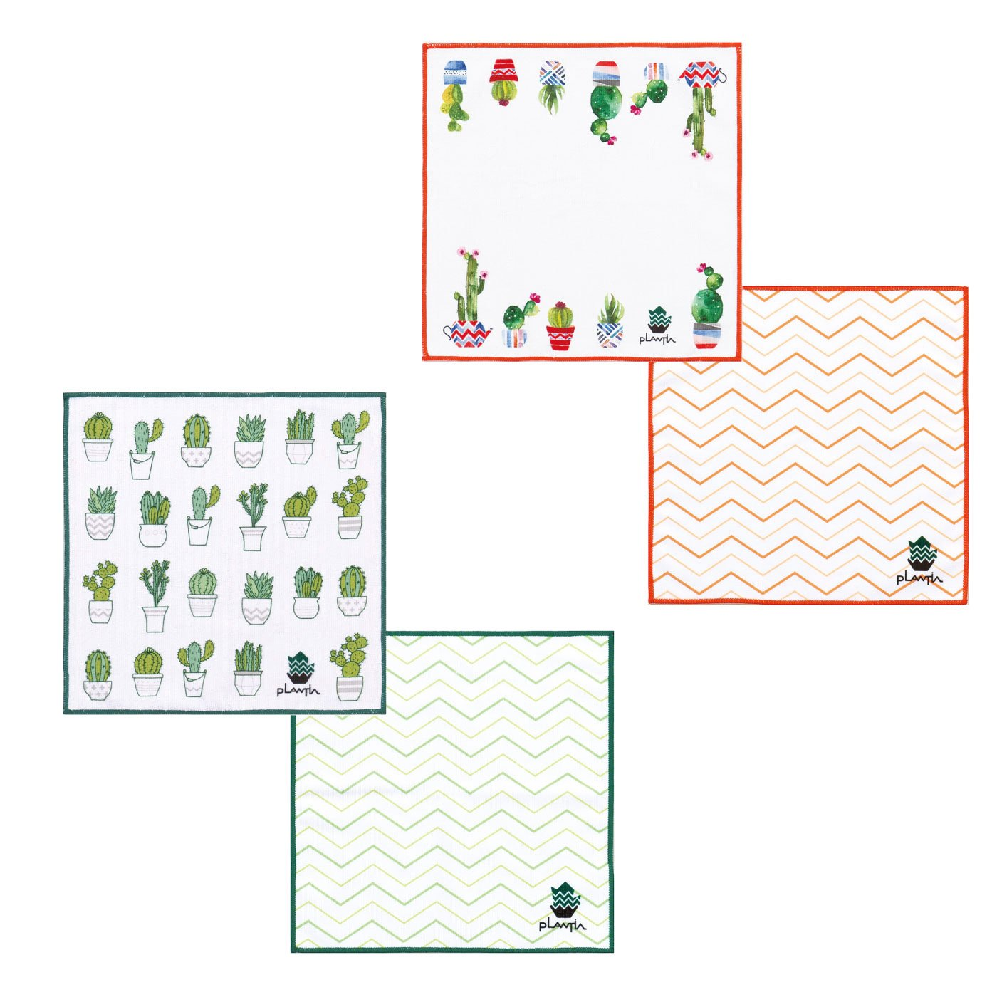 緑を感じるキッチン PLANTIA キッチンクロス4枚セット