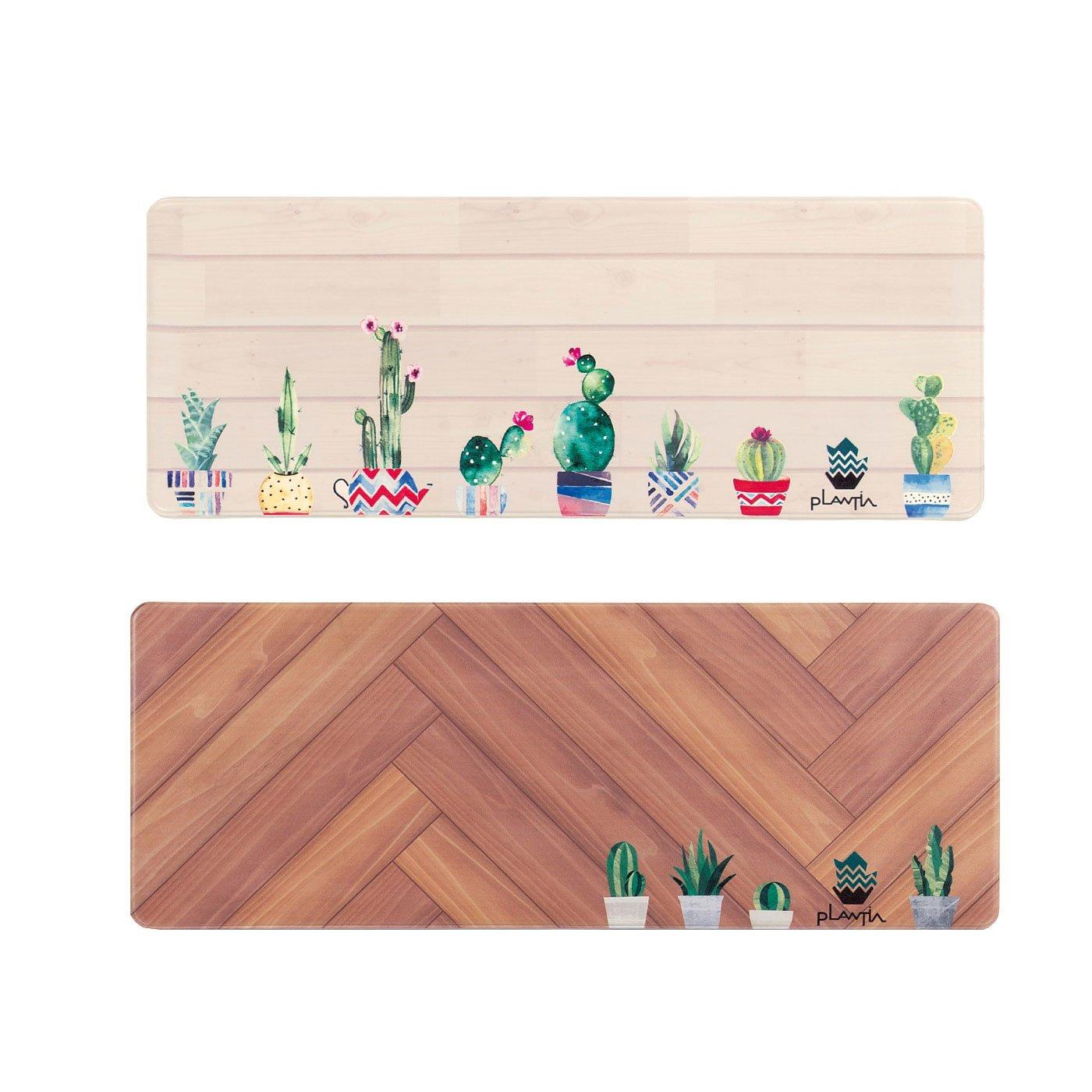 緑を感じるキッチン PLANTIA ロングマット(120cm)