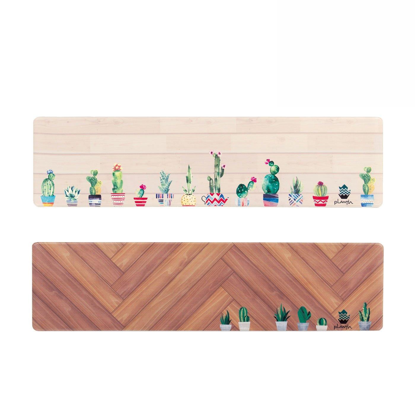 緑を感じるキッチン PLANTIA ロングマット(180cm)