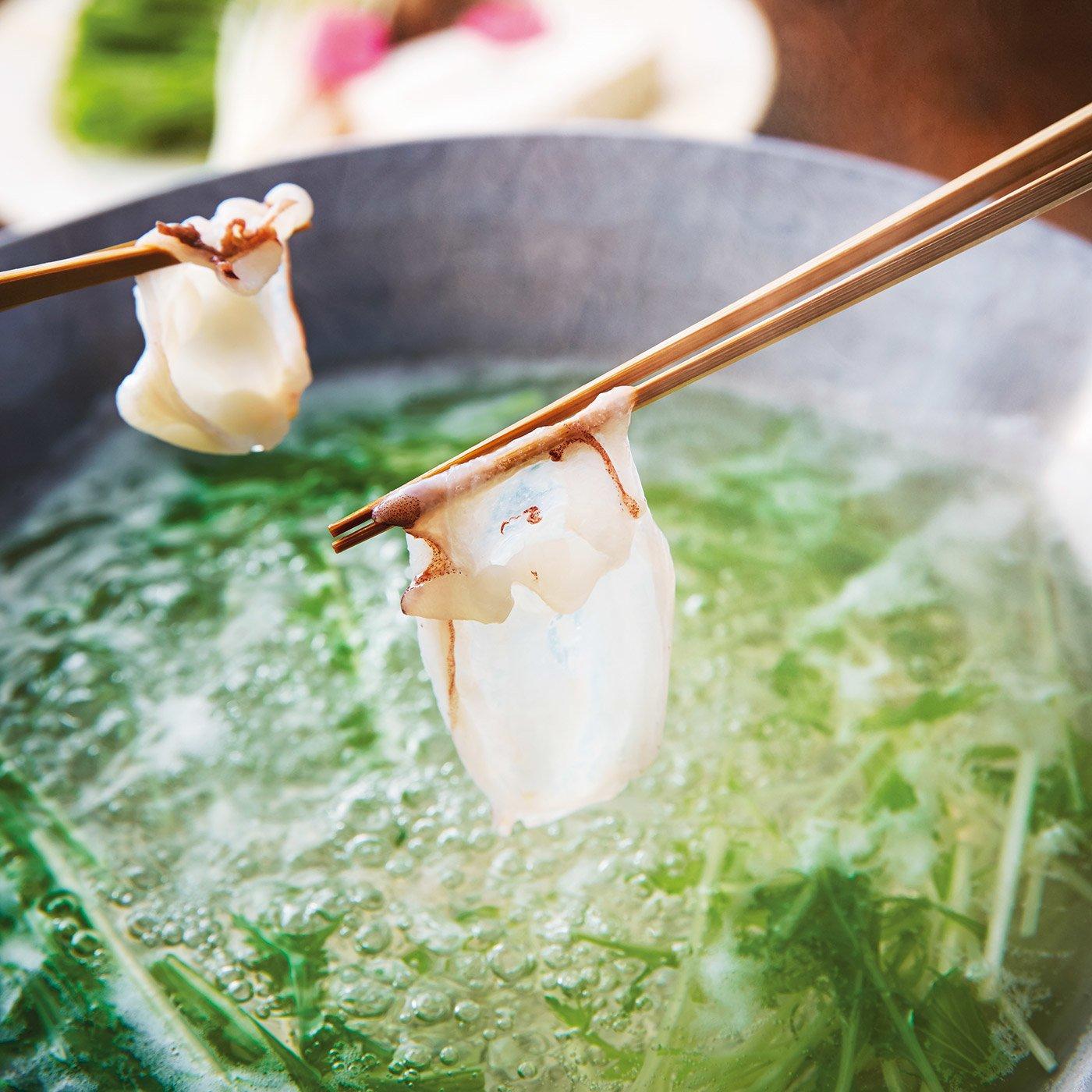 とっておきの鍋 北海道真だこのしゃぶしゃぶ