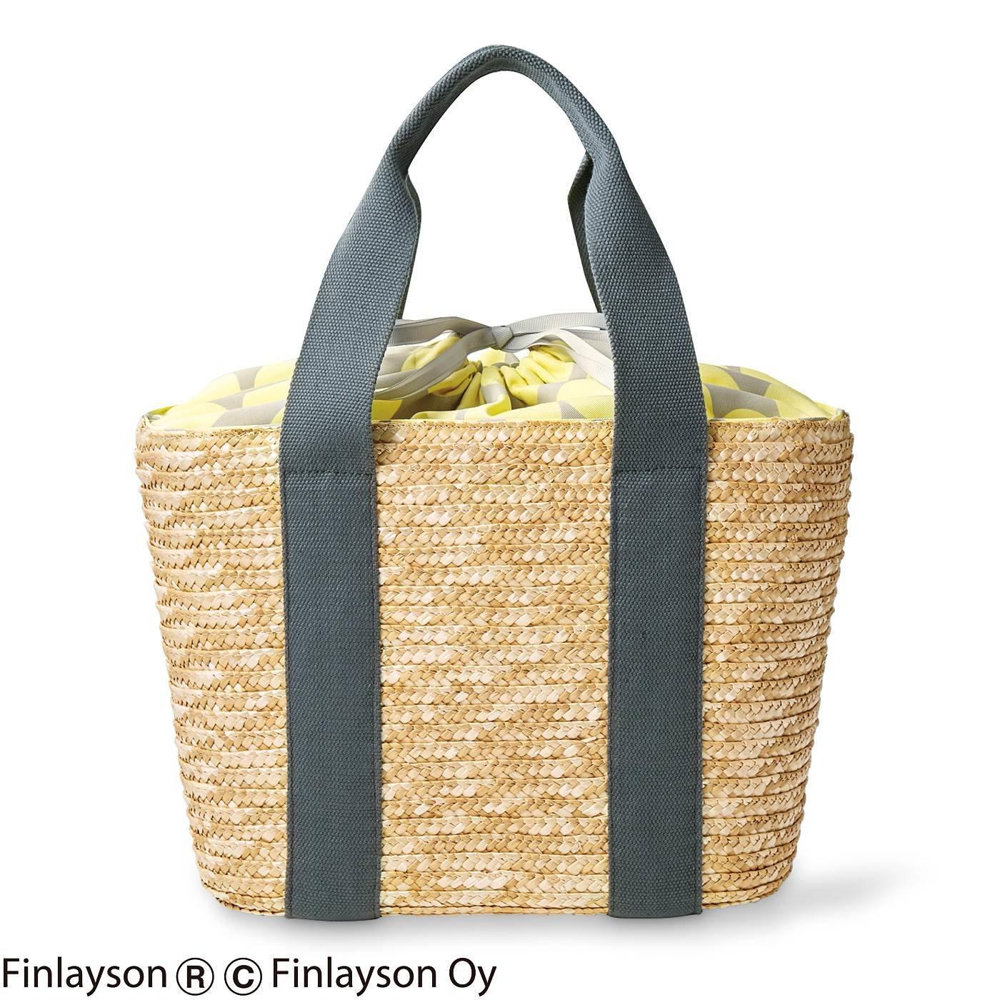 フィンレイソン 便利な大きめかごバッグ〈ポップ〉