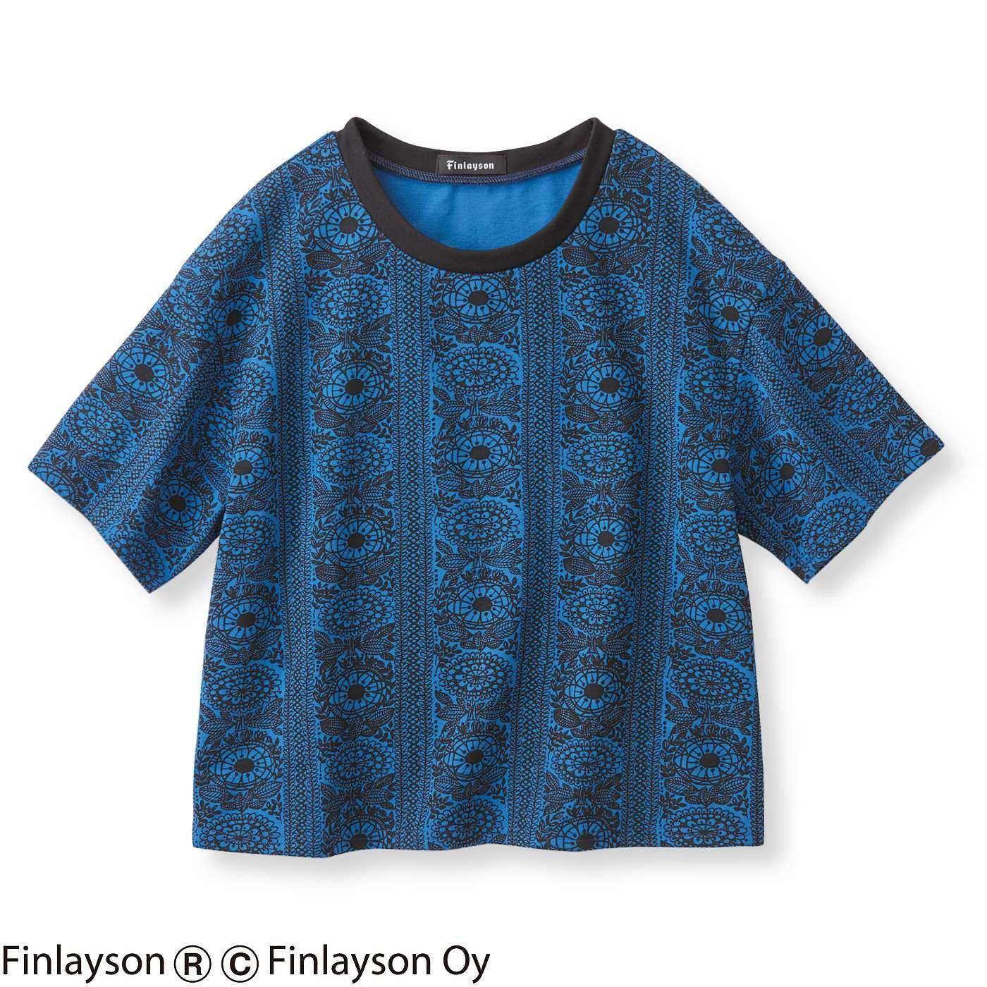フィンレイソン ボーイッシュシルエットのプリントTシャツ〈タイミ〉