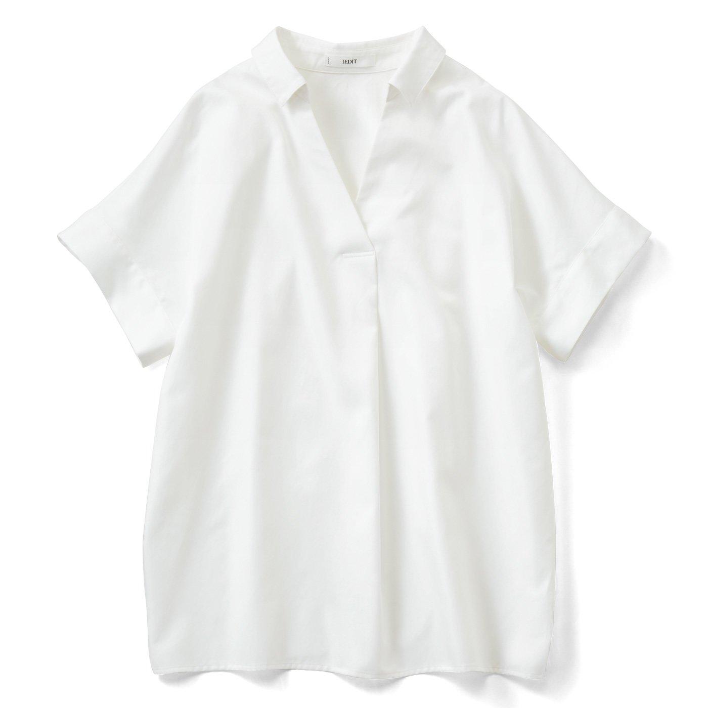 IEDIT[イディット] UVカット&防汚加工!クレバー素材のプルオーバーチュニックシャツの会