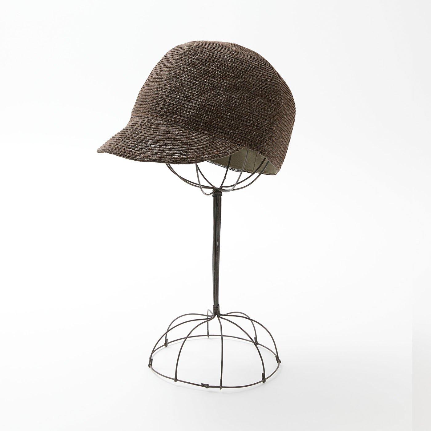 odds 夏のキャップ帽〈茶〉