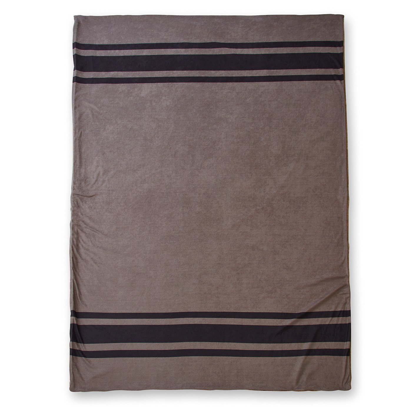 ヴィンテージブランケットのような 表はパイル裏はあったか 掛け布団カバー〈ヴィンテージグレー〉
