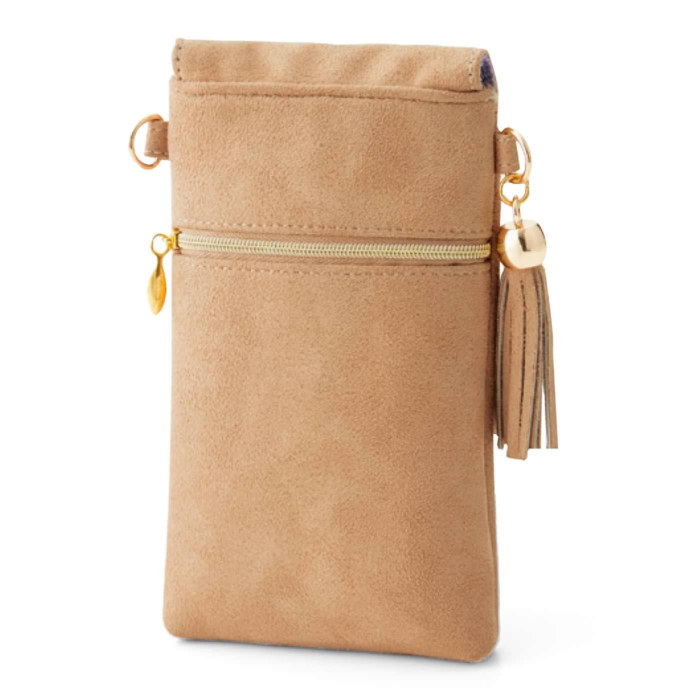 [back]便利なポケット付き。裏面にはリップや小物などが入るファスナーポケット。