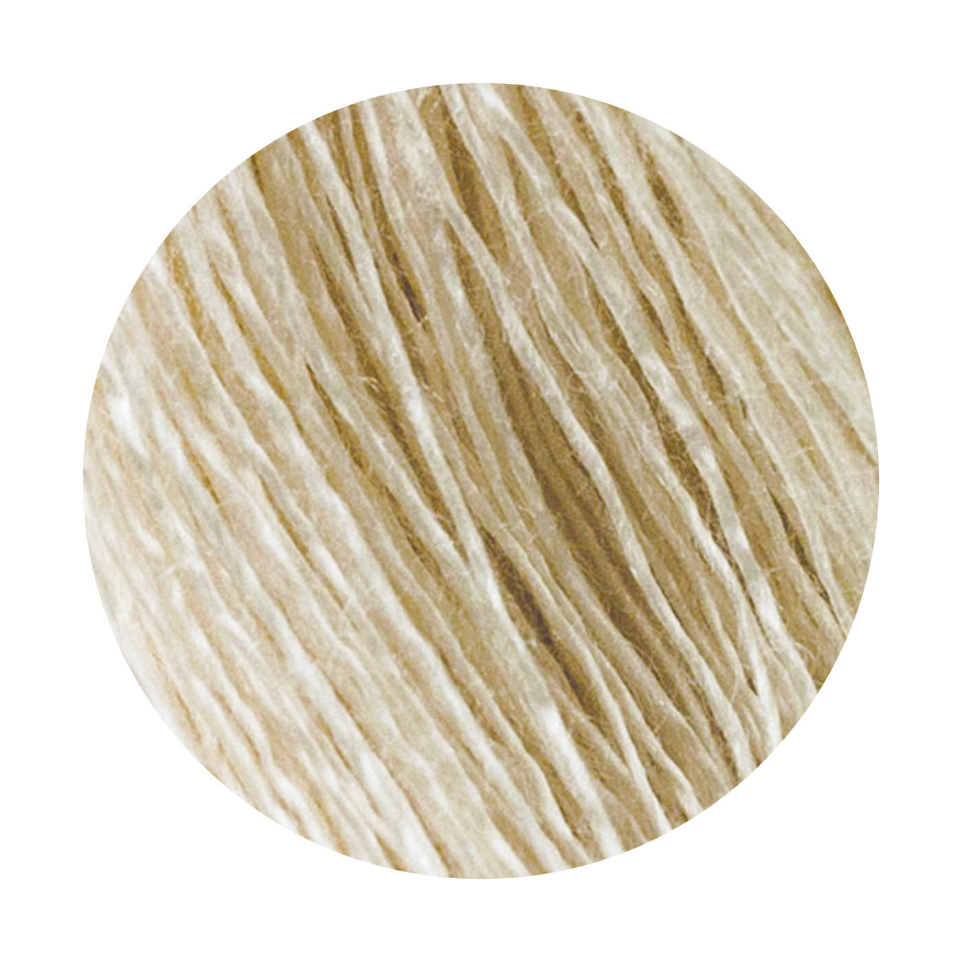 長い繊維で滑らかさが特長の「絹紡糸」を使用しました。