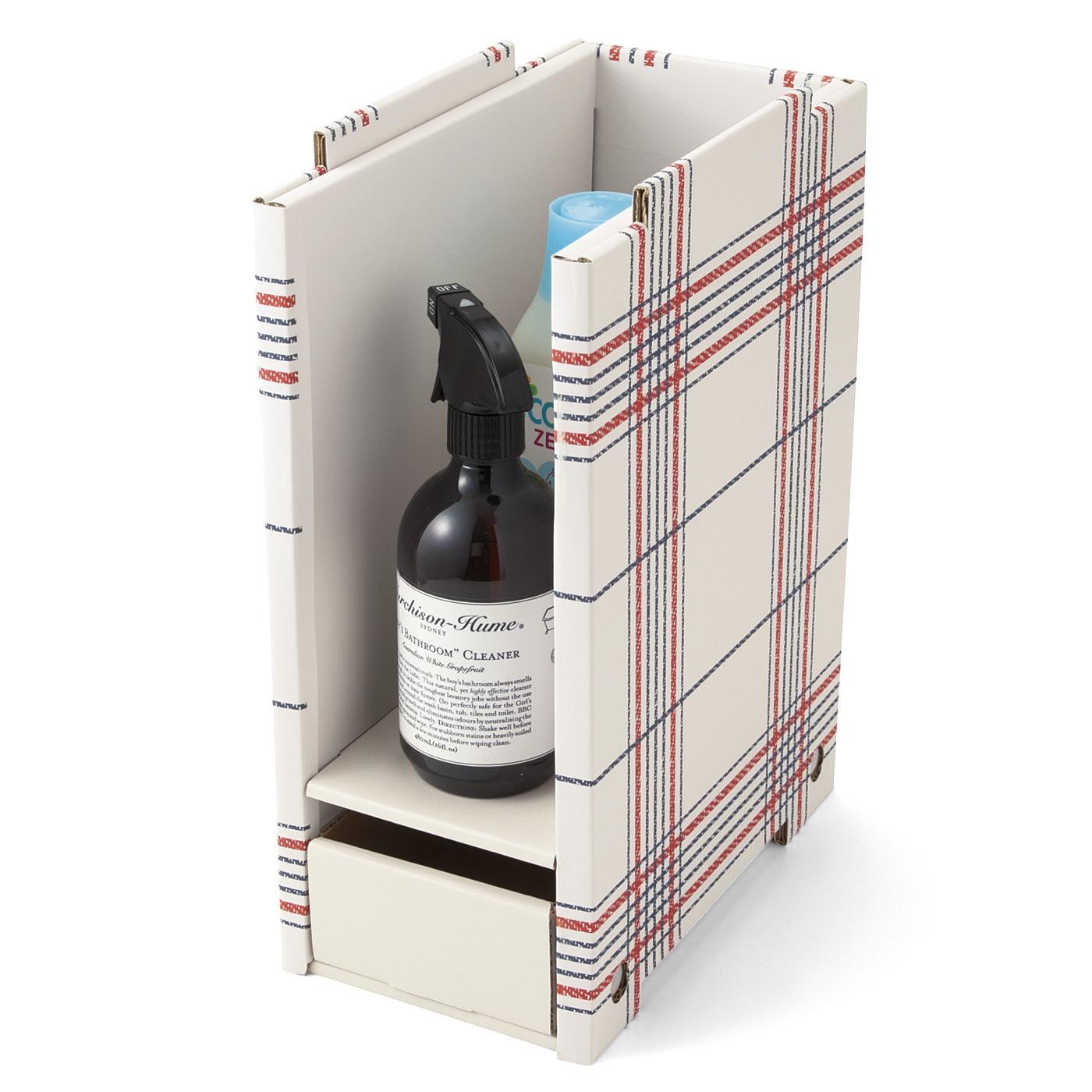 洗面所の小さなスペースにもすっぽり 重ねて収納増量ラック