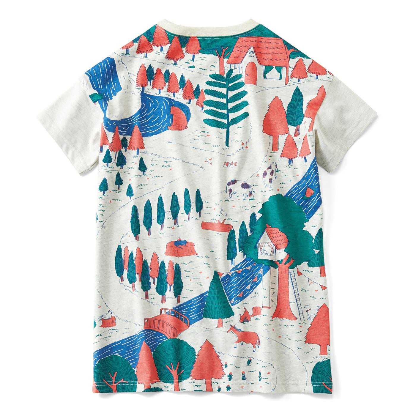 YOU+MORE! 寝ころび保育 パパドーロTシャツ〈森の小径〉