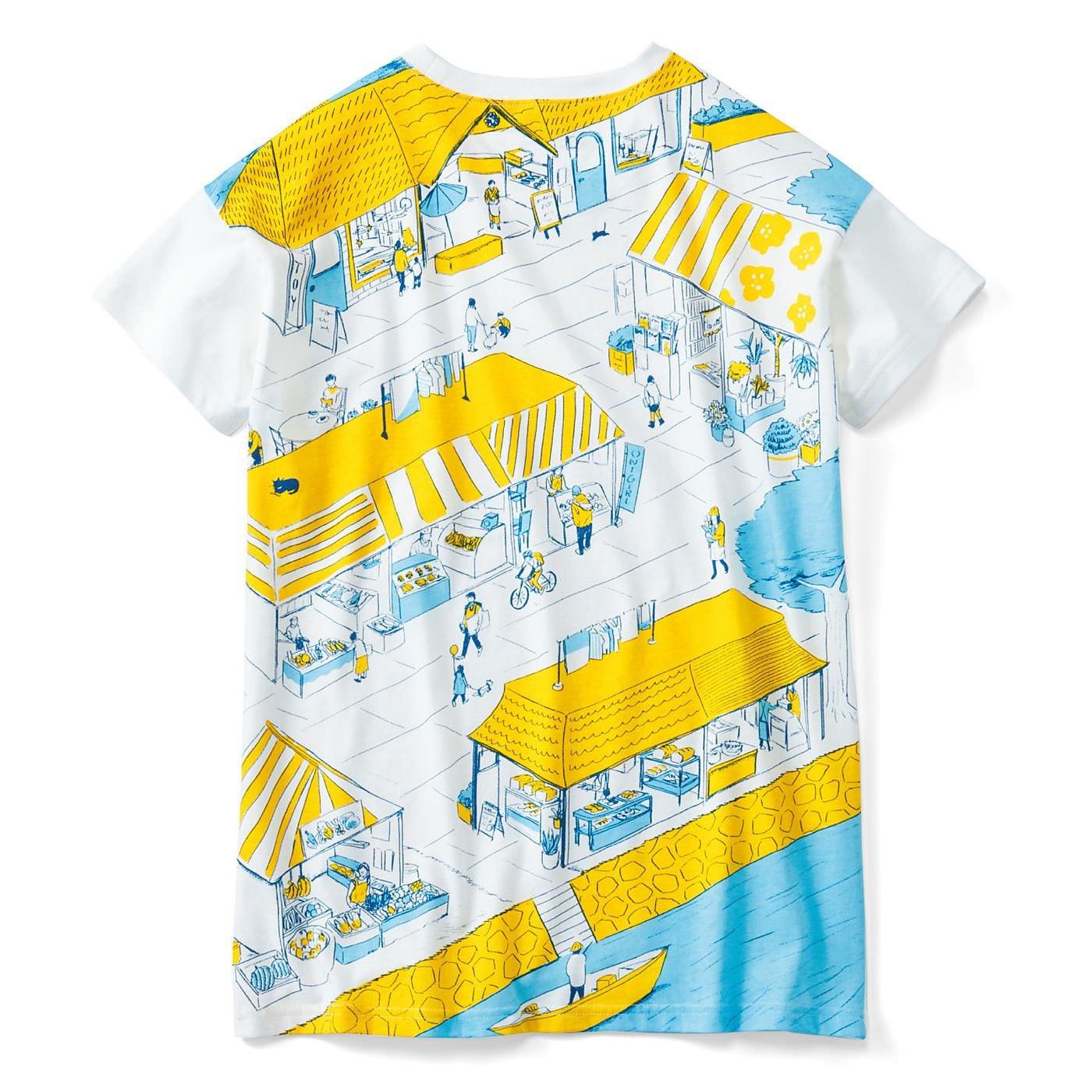 YOU+MORE! 寝ころび保育 パパドーロTシャツ〈港のお店屋さん〉