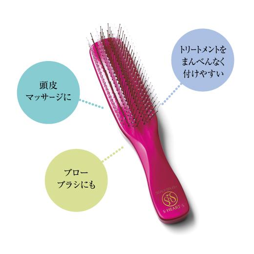 洗う、梳かす、マッサージがこれ1本で!3役こなすスカルプブラシを初回にお届けします。スカルプブラシはトリートメント剤を効果的に浸透させたり、頭皮のマッサージ、ブローブラシにも。一度使えばクセになる心地よさです。
