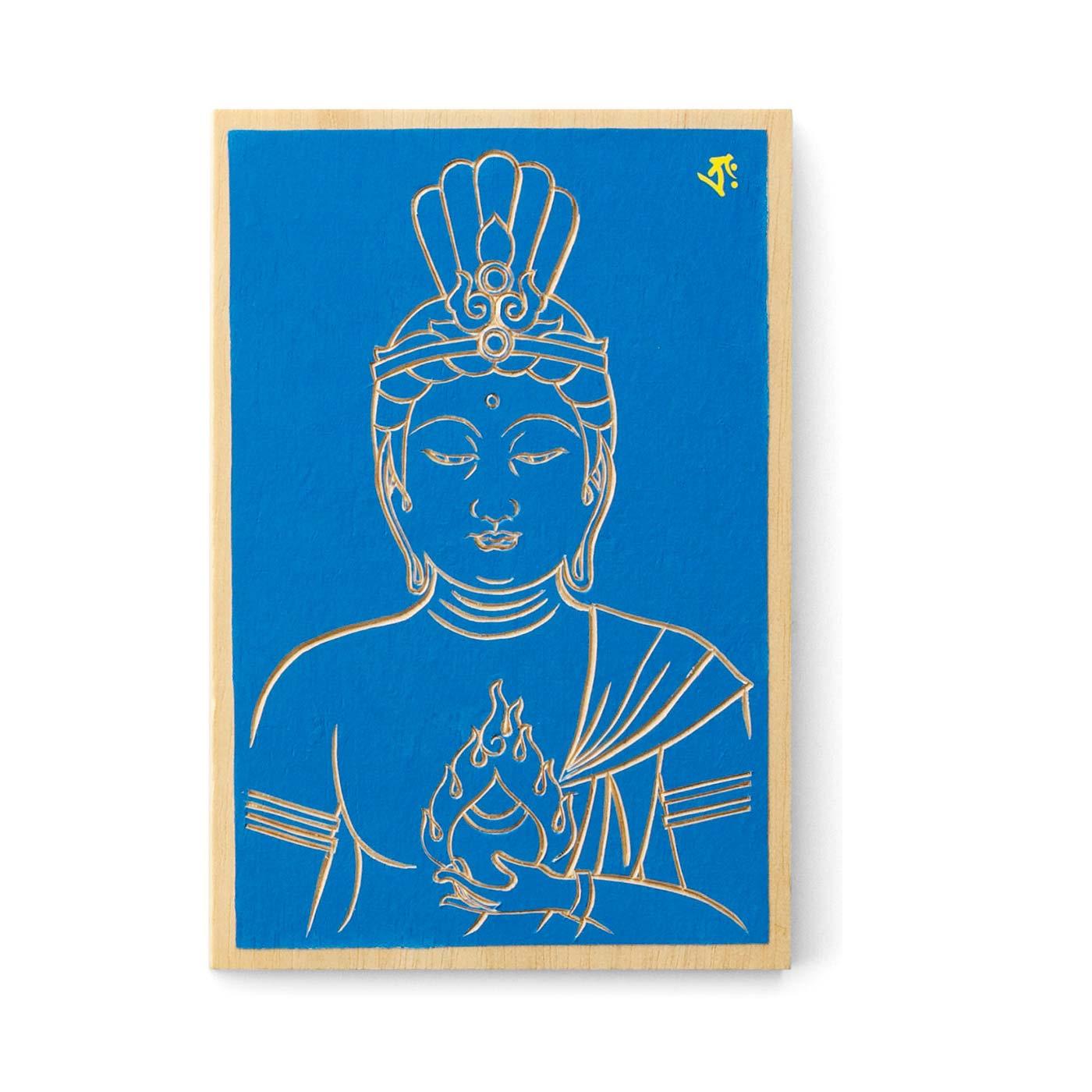 """八体の仏さまが守る方位を""""五大要素""""の色でそれぞれ表現。一文字で仏さまを表す梵字入り"""