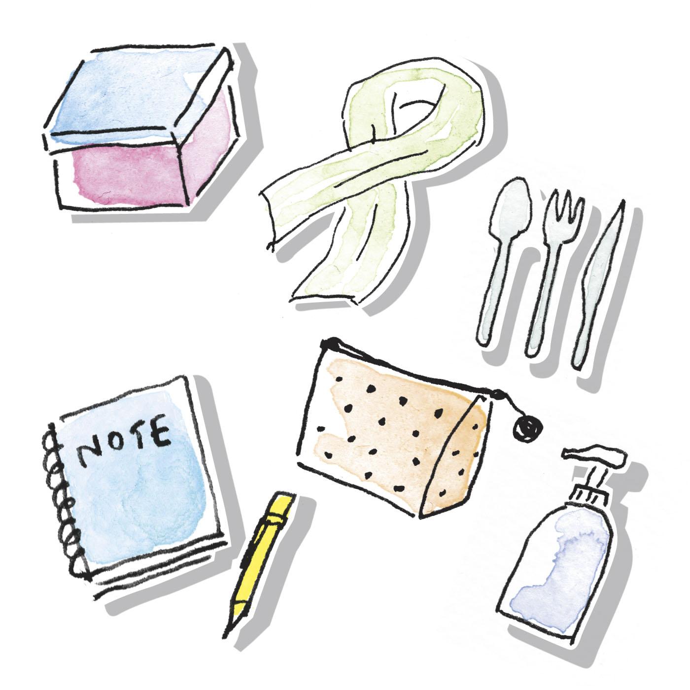 ステーショナリーやキッチン小物など、何が届くかはお楽しみに!