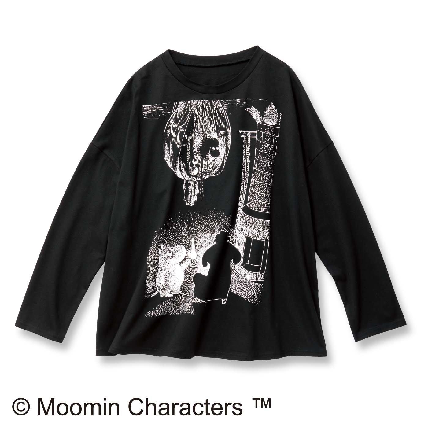 ムーミン谷の冬 プリント長袖Tシャツ