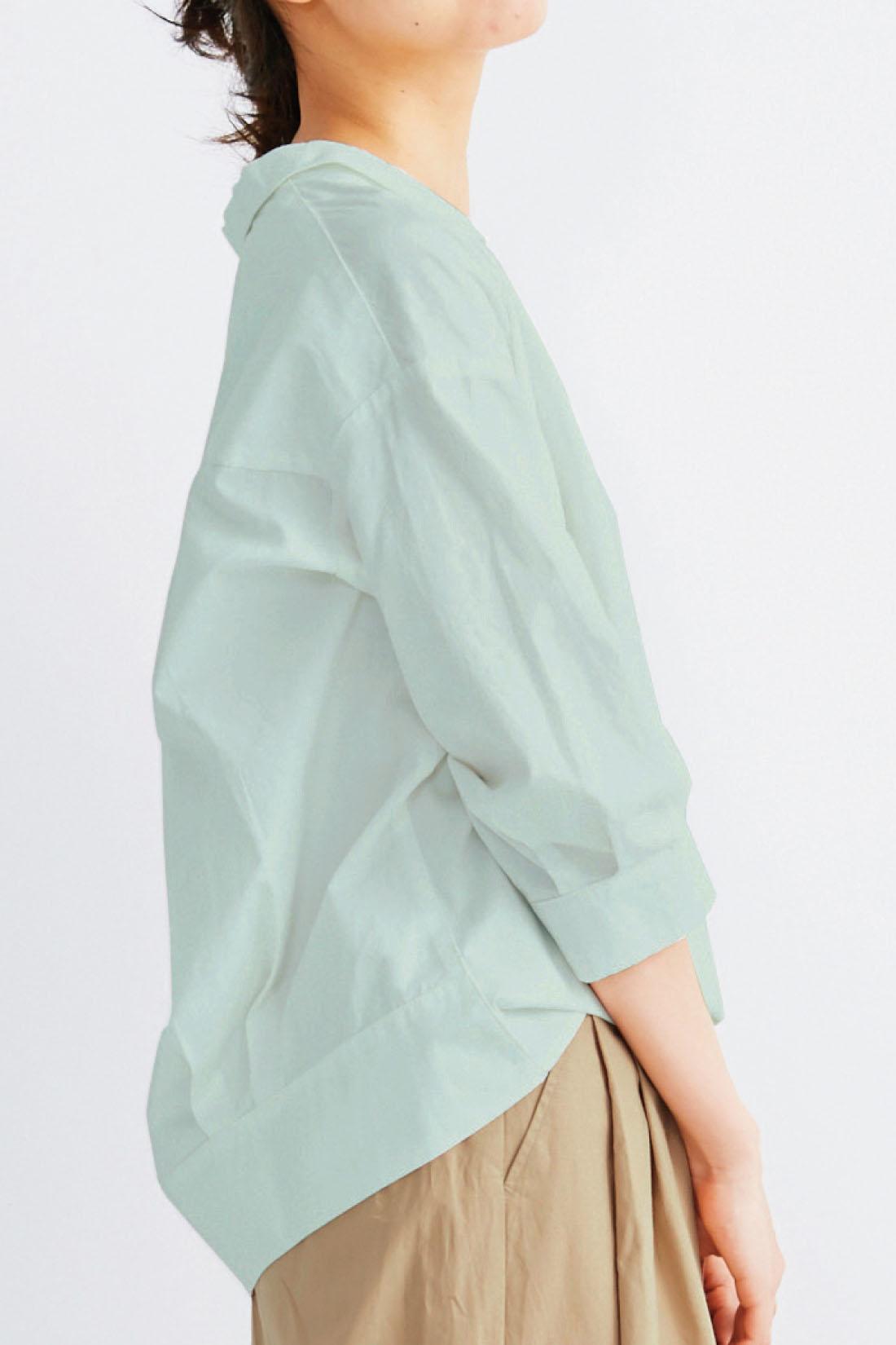 気になる部分をカバーする後ろ長めの丈感も◎。 ※着用イメージです。※お届けするカラーとは異なります。