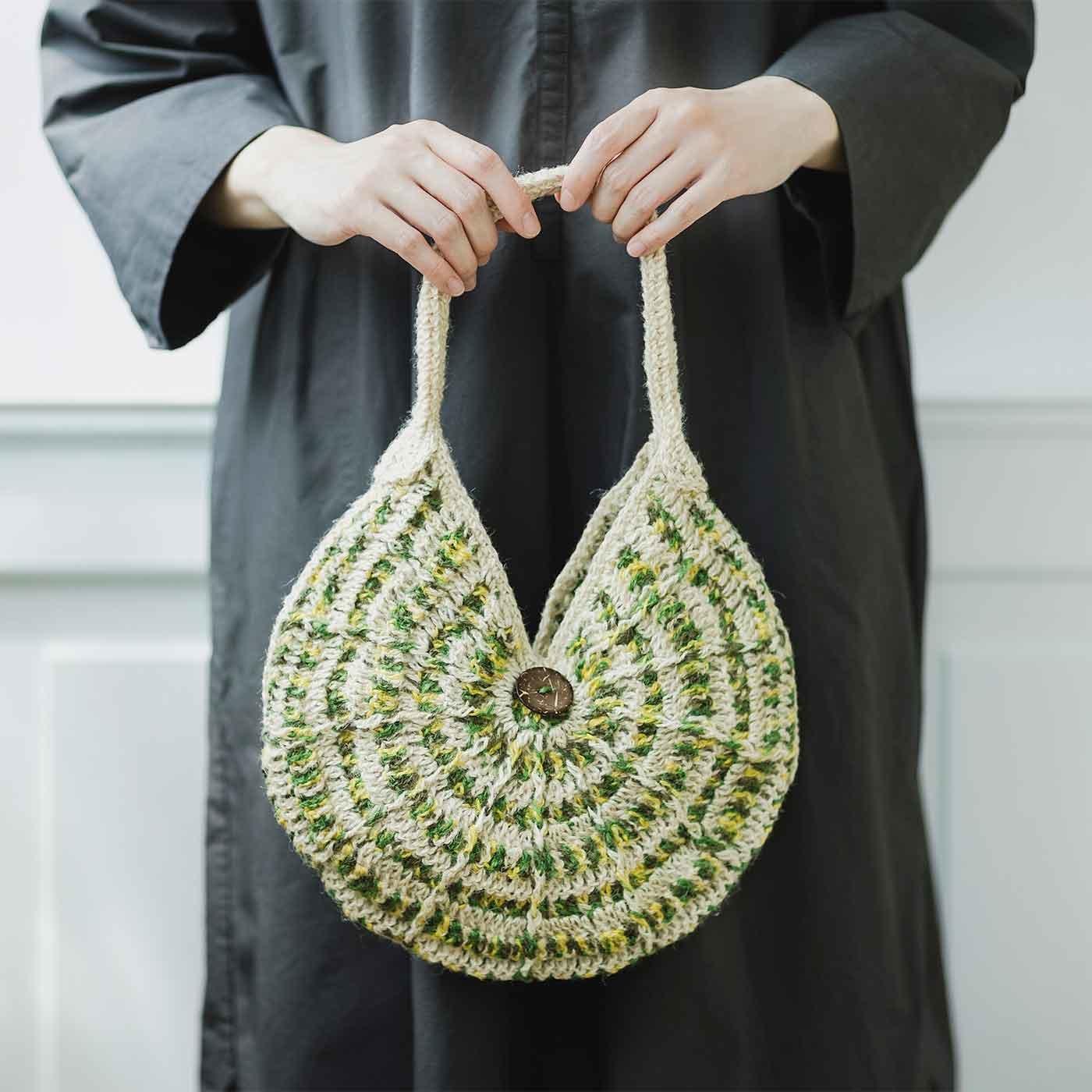 まん丸がかわいい 丸型グラニーバッグが編めるキット
