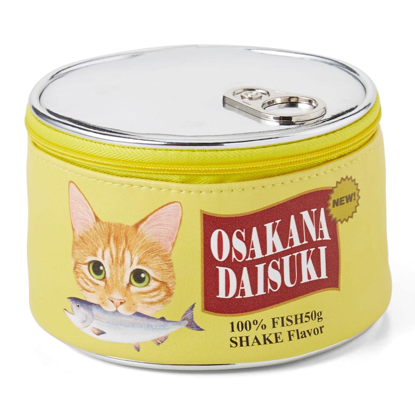 おなかがすいてきちゃうにゃん! お魚猫缶ポーチ