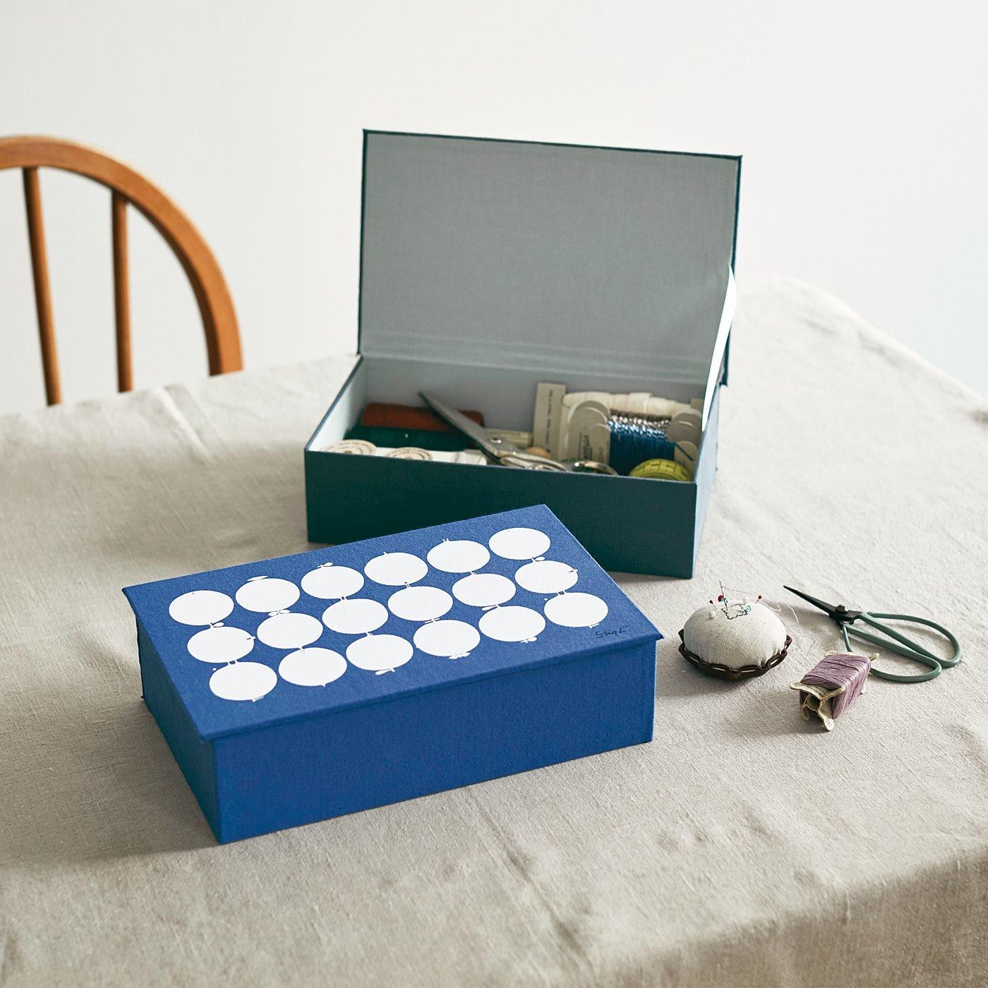 スティグ・リンドベリ 小物を目隠し収納できる テキスタイルで仕立てた道具箱〈タリホー〉の会