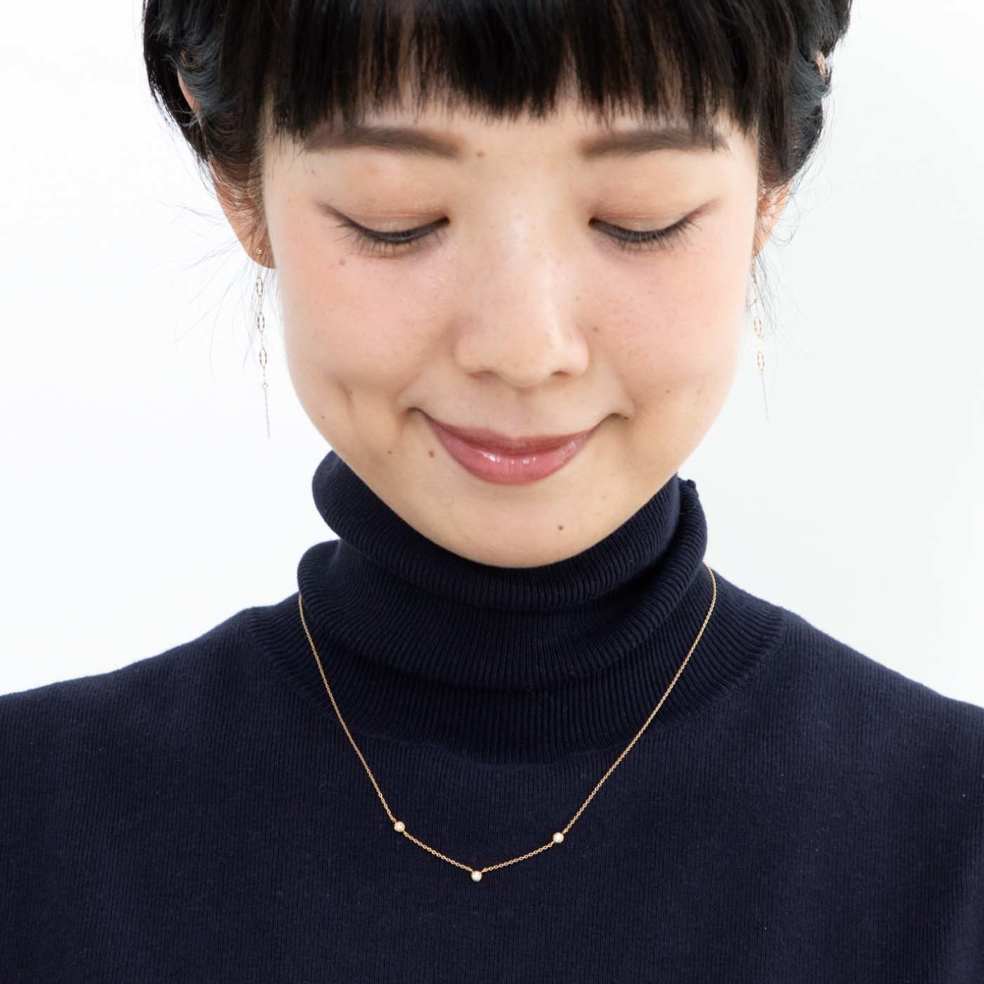 UP.de トリロジーダイヤモンドのネックレス
