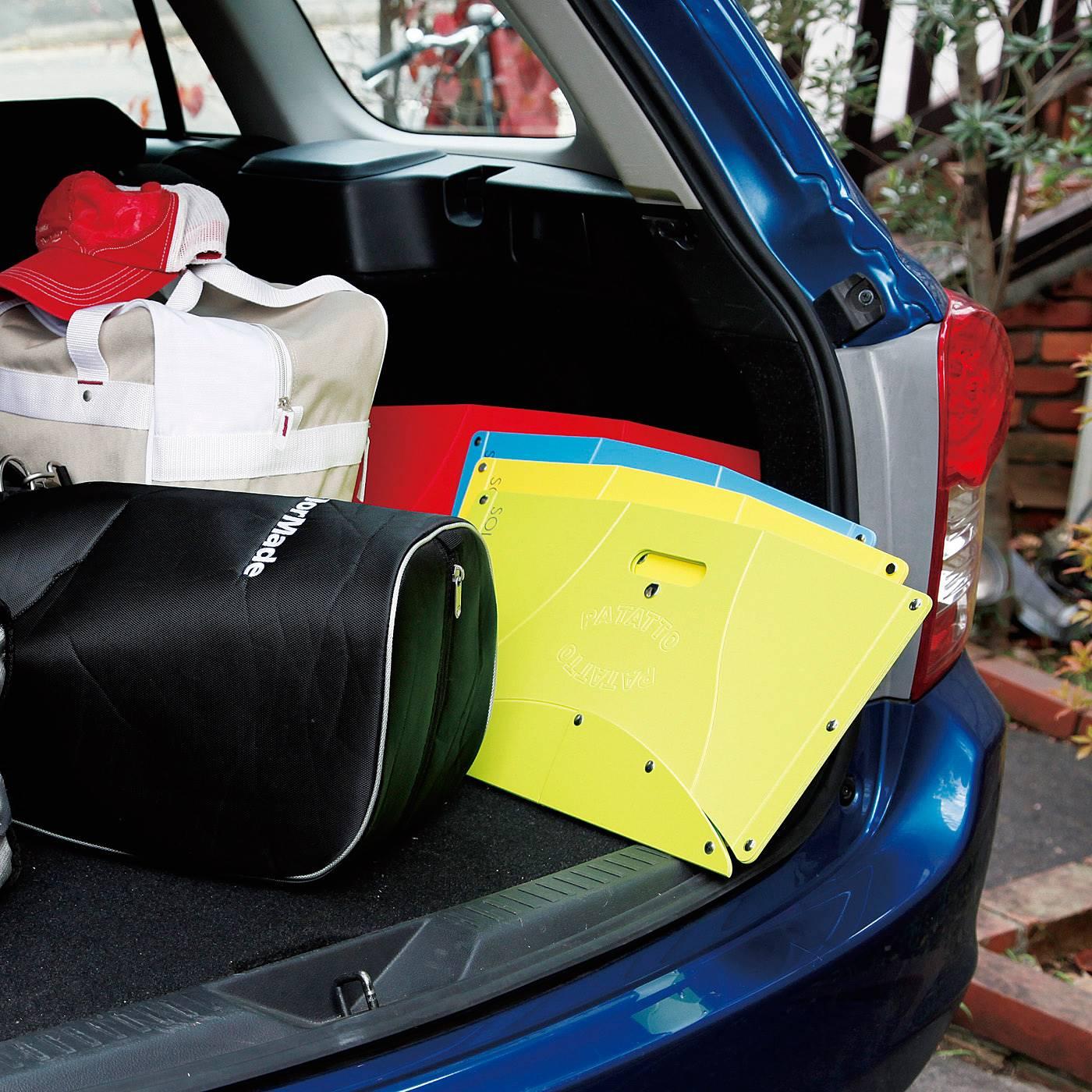 場所をとらないから、車に積んでおくと便利。