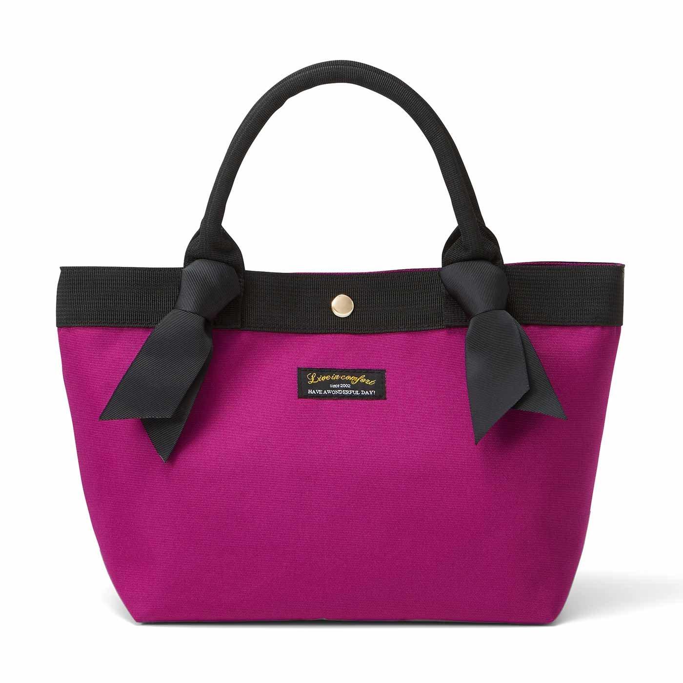 リブ イン コンフォート リボン付きできゅんとかわいい便利トートバッグ〈ピンク〉