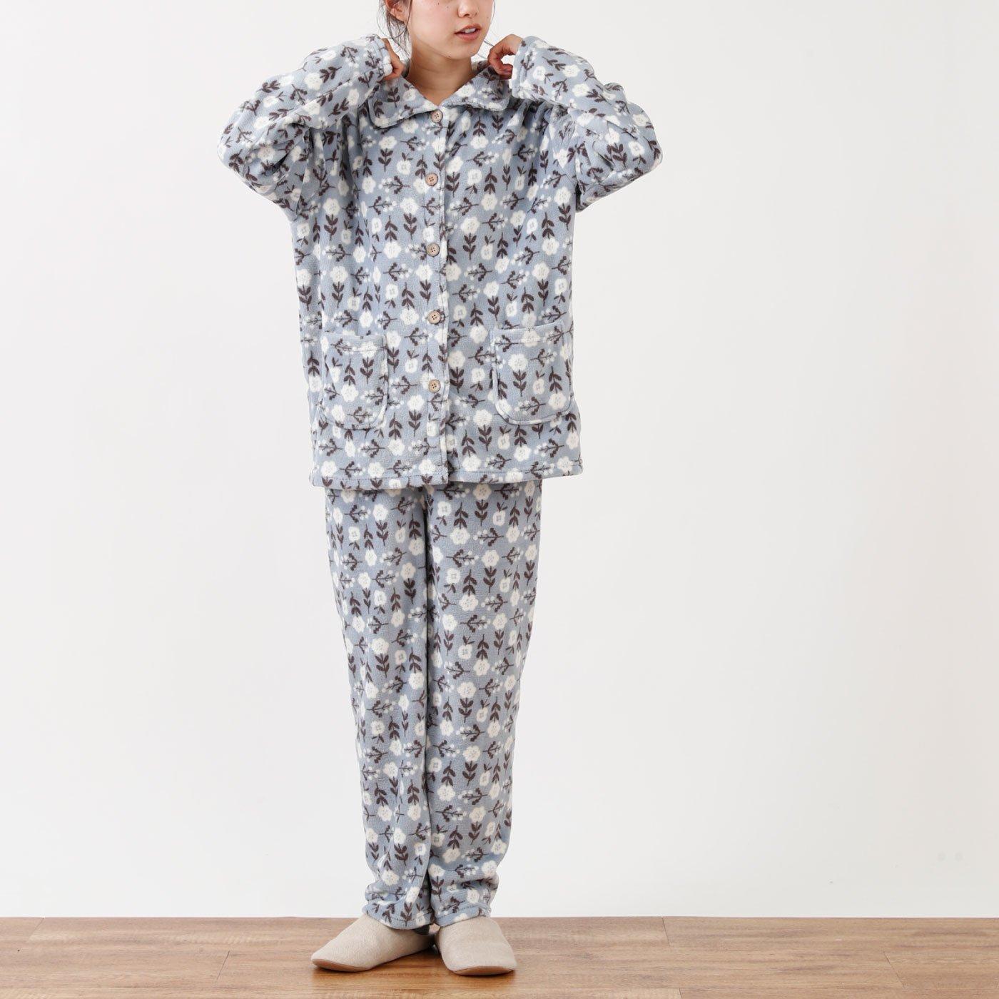 ふんわりあったか 花柄パジャマ