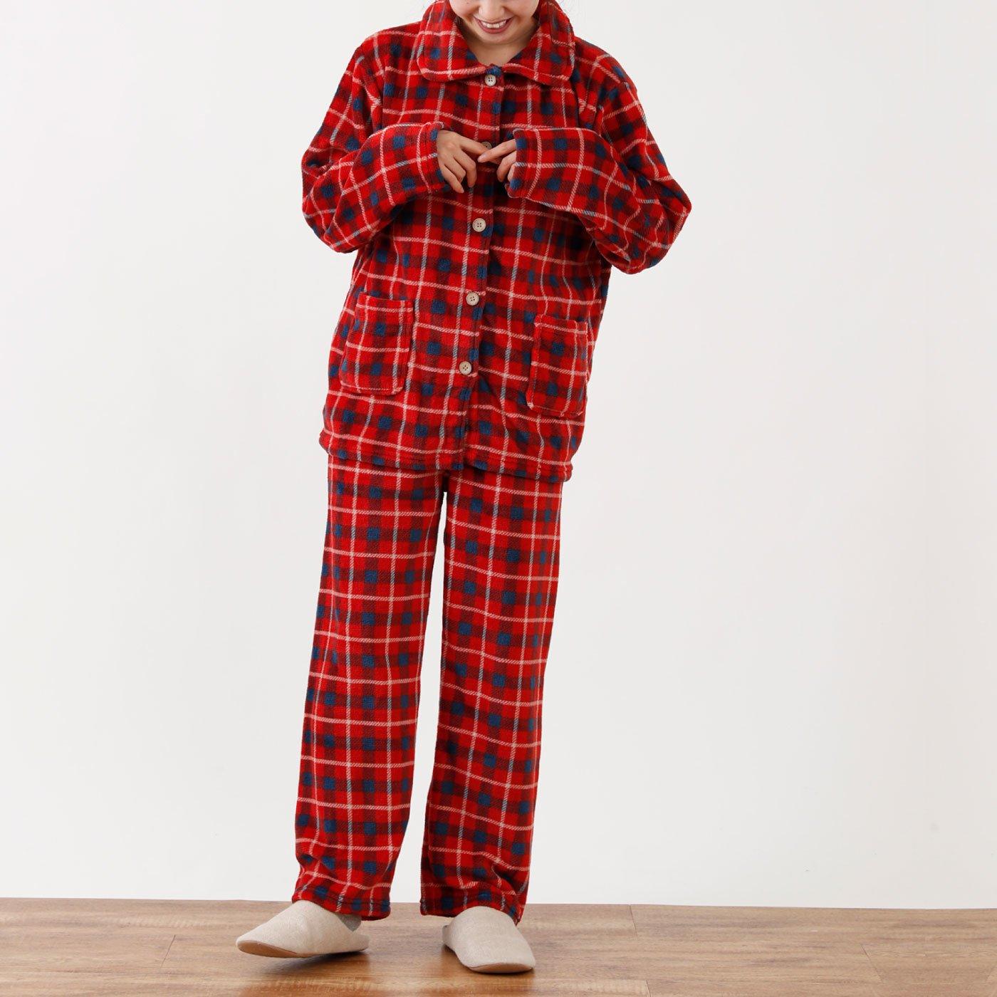 ふんわりあったか チェック柄パジャマ