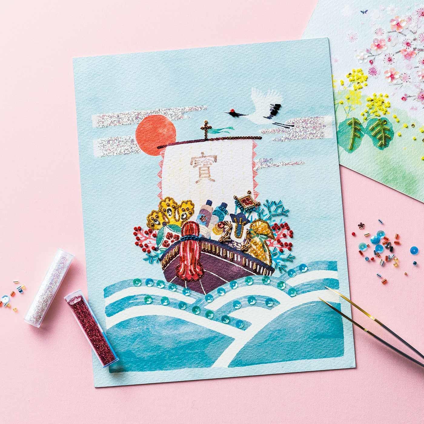 【クチュリエクラブ会員限定】季節を彩る 貼るだけのきらめくアート 12ヵ月のビーズデコール(R)の会 (期間予約)