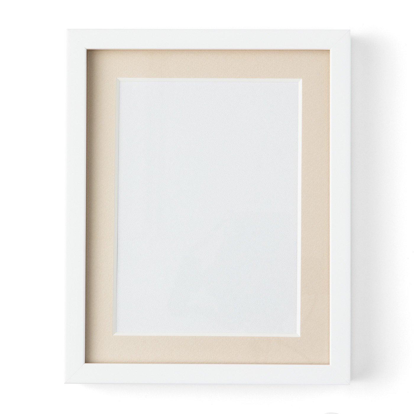 シンプルな白枠が作品を引き立てる ビーズデコール(R)専用フレーム