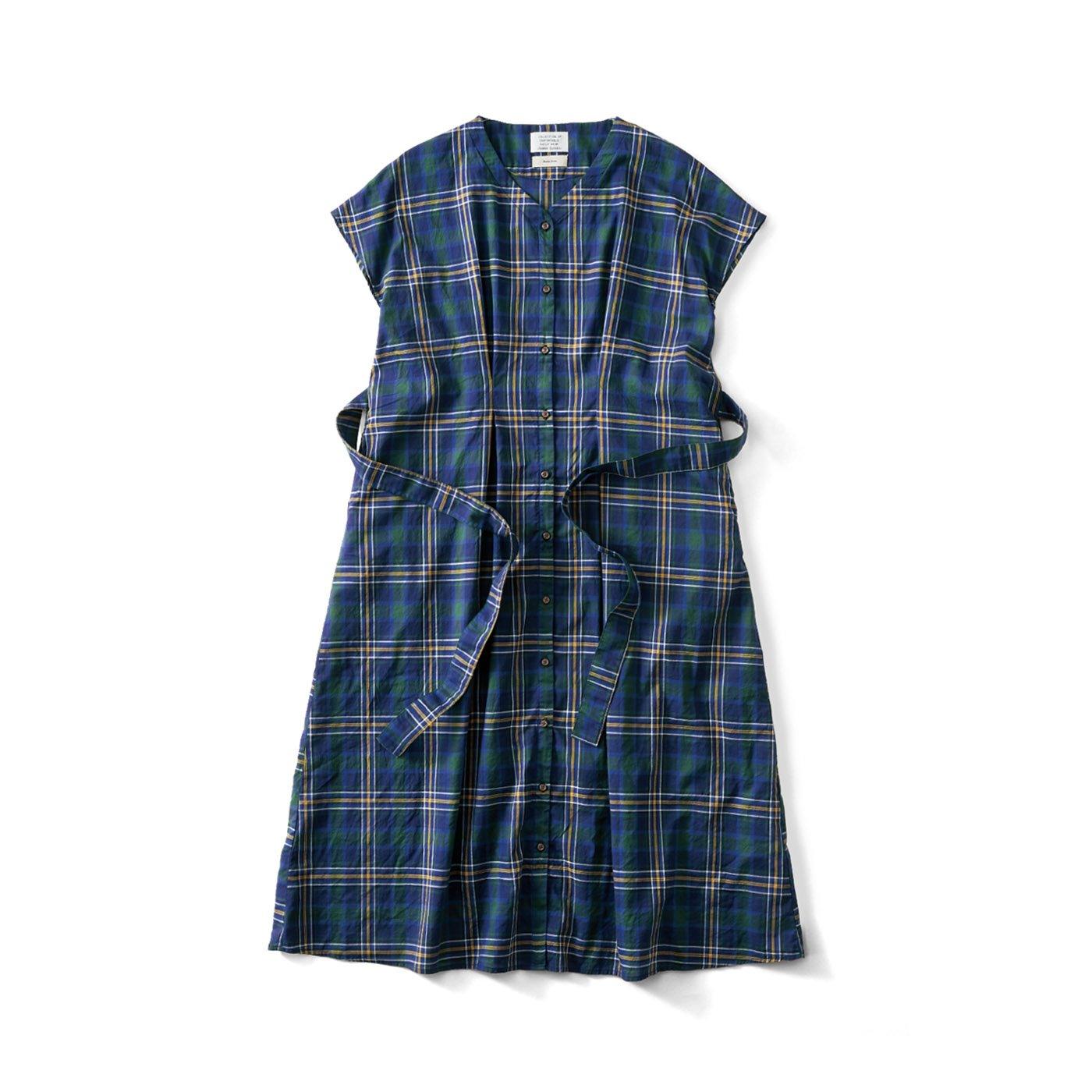 サニークラウズ feat. Shuttle Notes 半巾帯付きチェックドレス〈レディース〉