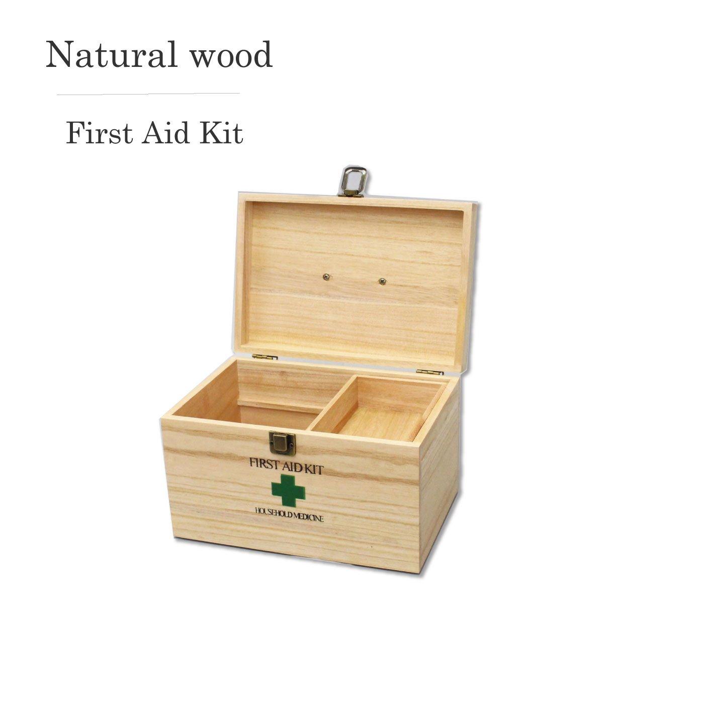 シンプルナチュラルな天然木救急箱