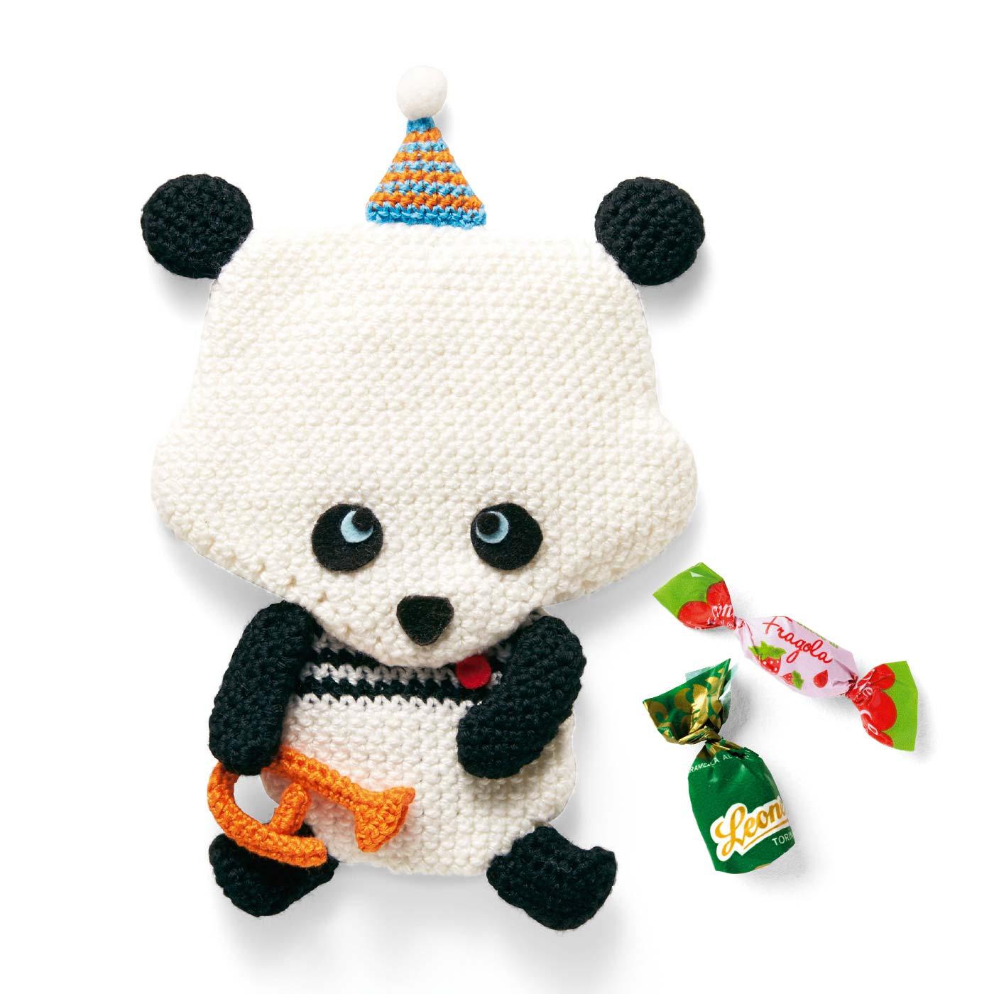 パンダとトランペット(お菓子ポーチ)