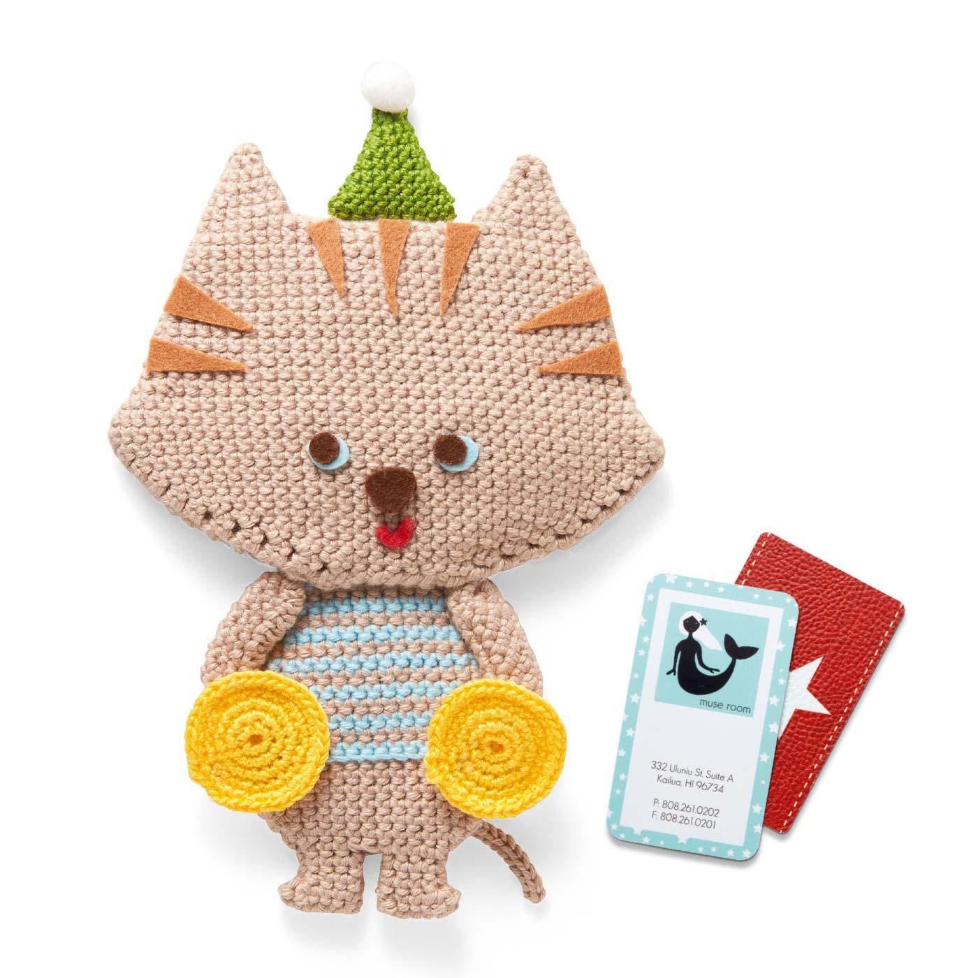 猫とシンバル(カード入れ)